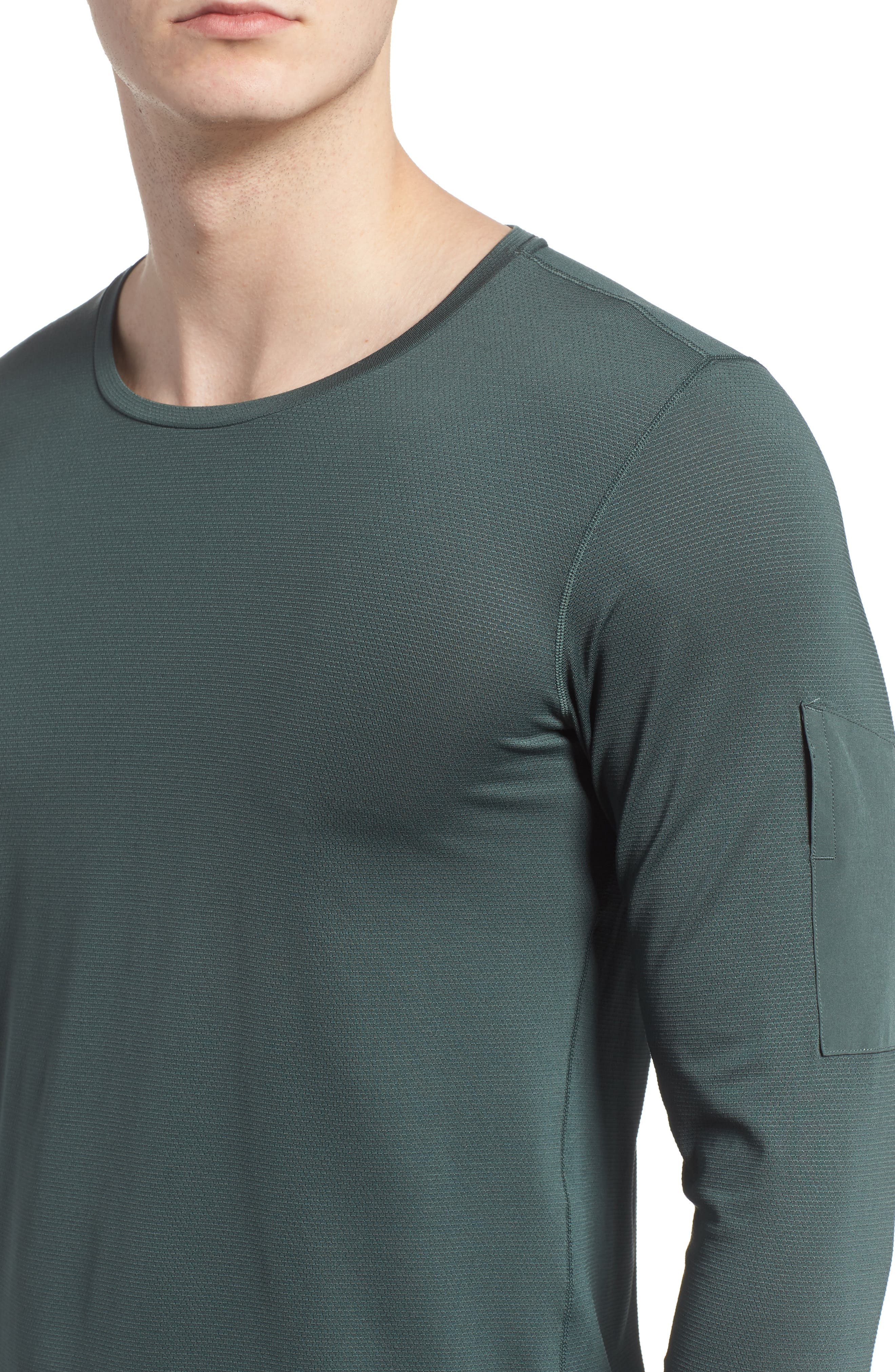 Pro Utility Fitted Training Top,                             Alternate thumbnail 4, color,                             Vintage Green/ Black