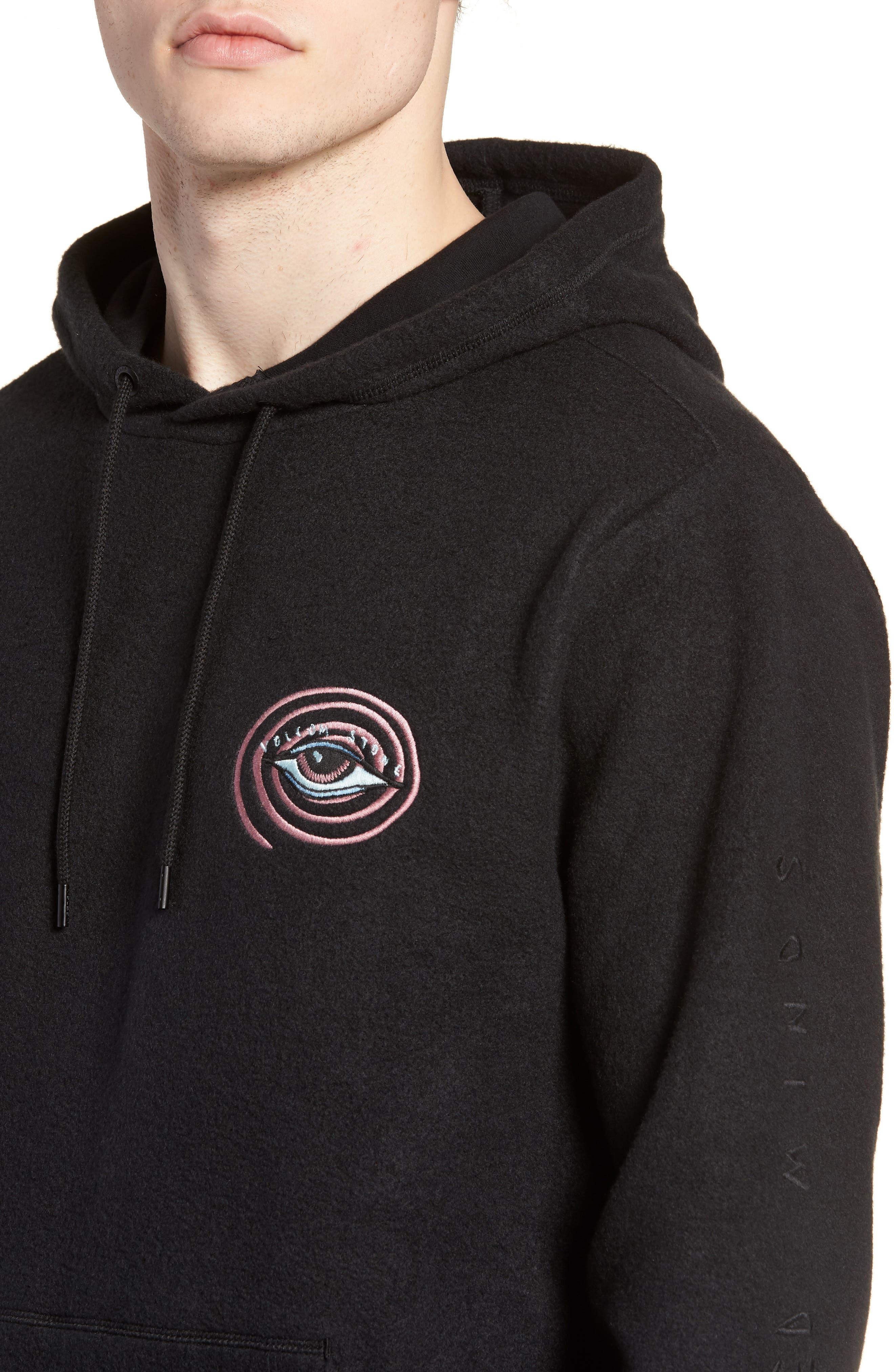 Burch Eye Hoodie Sweatshirt,                             Alternate thumbnail 4, color,                             Black