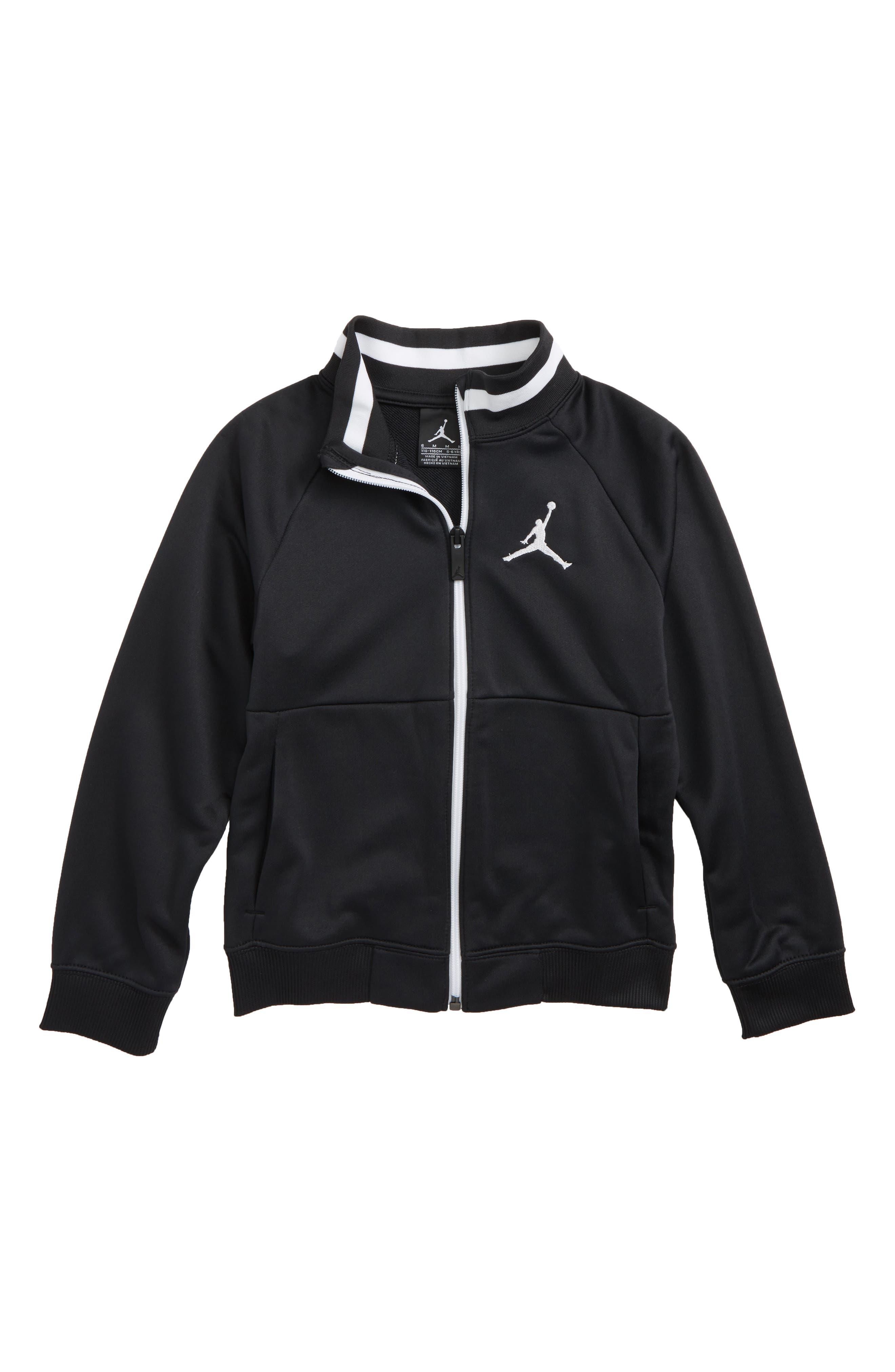 Jordan '90s Tricot Jacket,                             Main thumbnail 1, color,                             Black