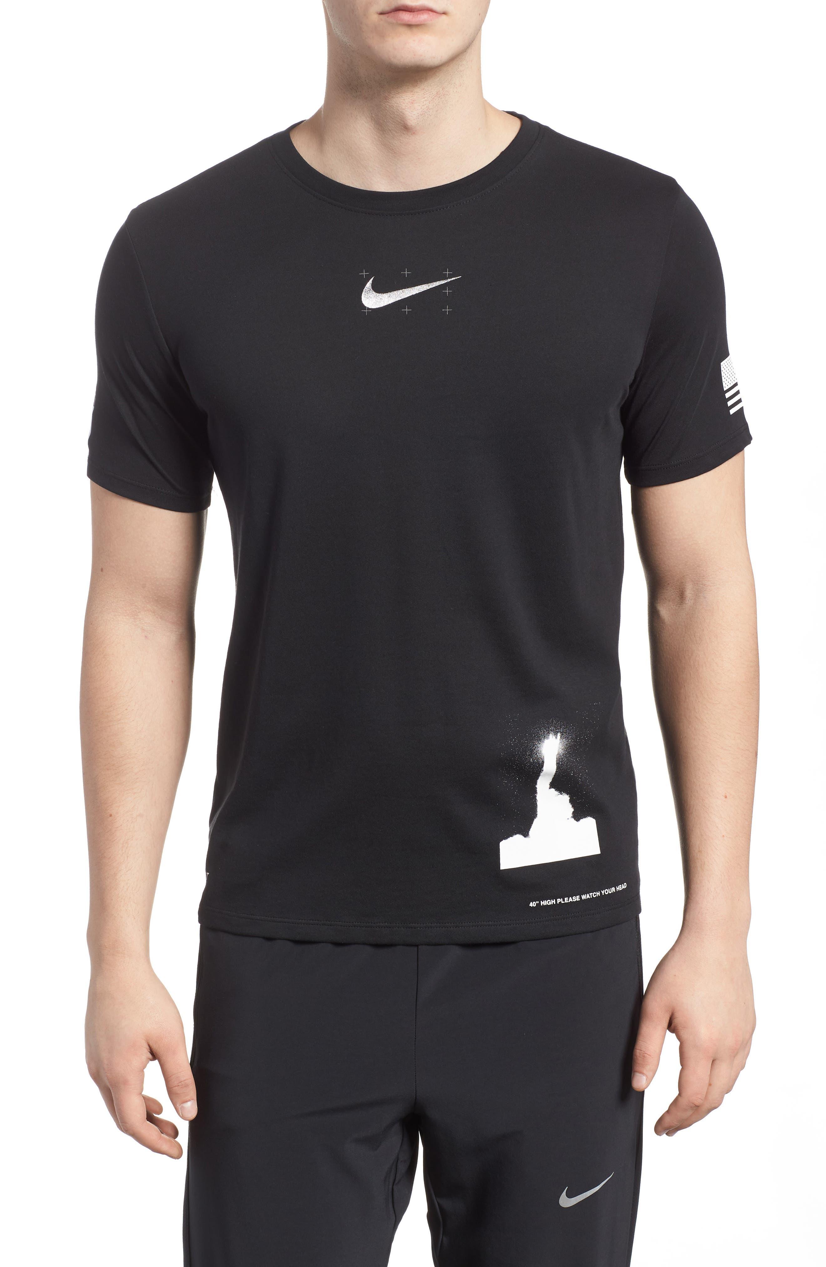Dry Unit T-Shirt,                             Main thumbnail 1, color,                             Black/ Black