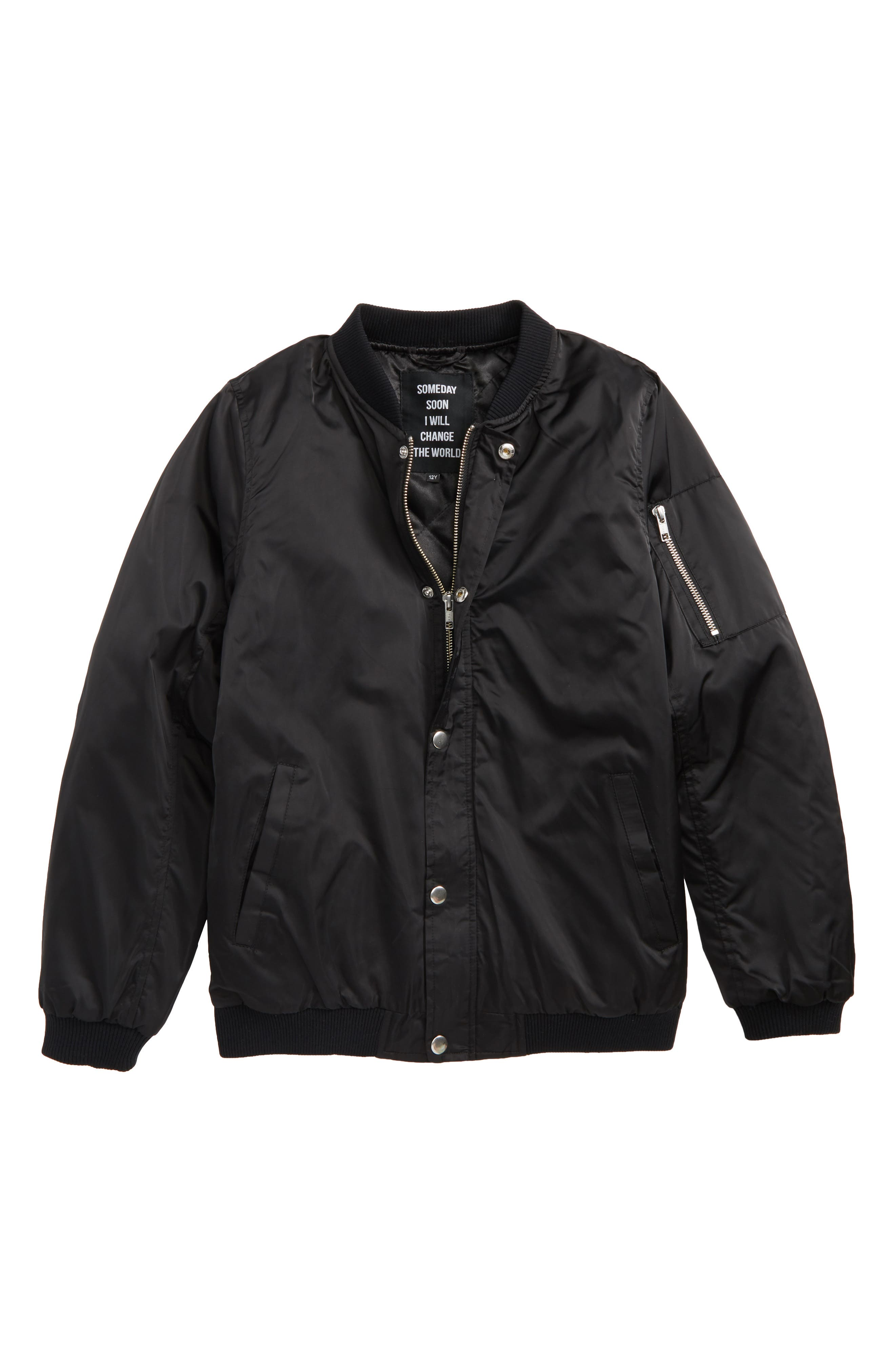 SOMEDAY SOON Callum Bomber Jacket (Big Boys)