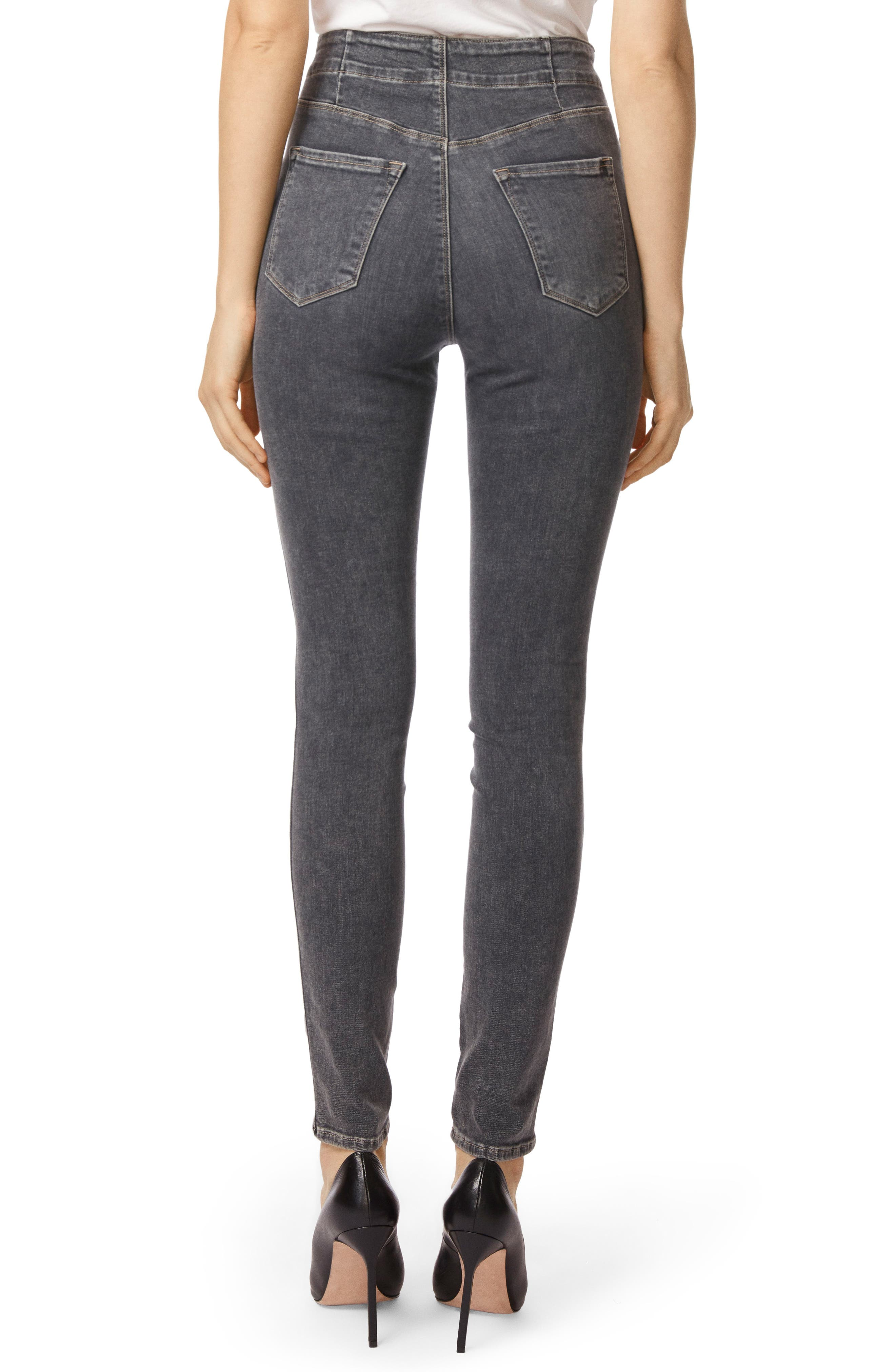 Natasha Sky High High Waist Super Skinny Jeans,                             Alternate thumbnail 2, color,                             Obscura