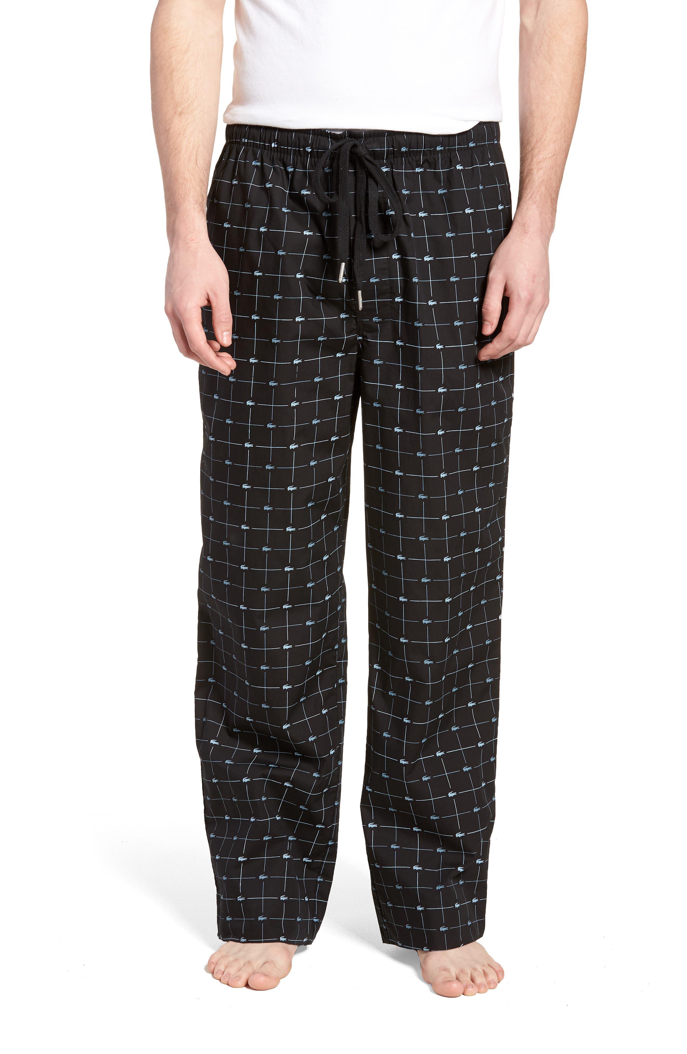 Print Lounge Pants,                             Main thumbnail 1, color,                             Black