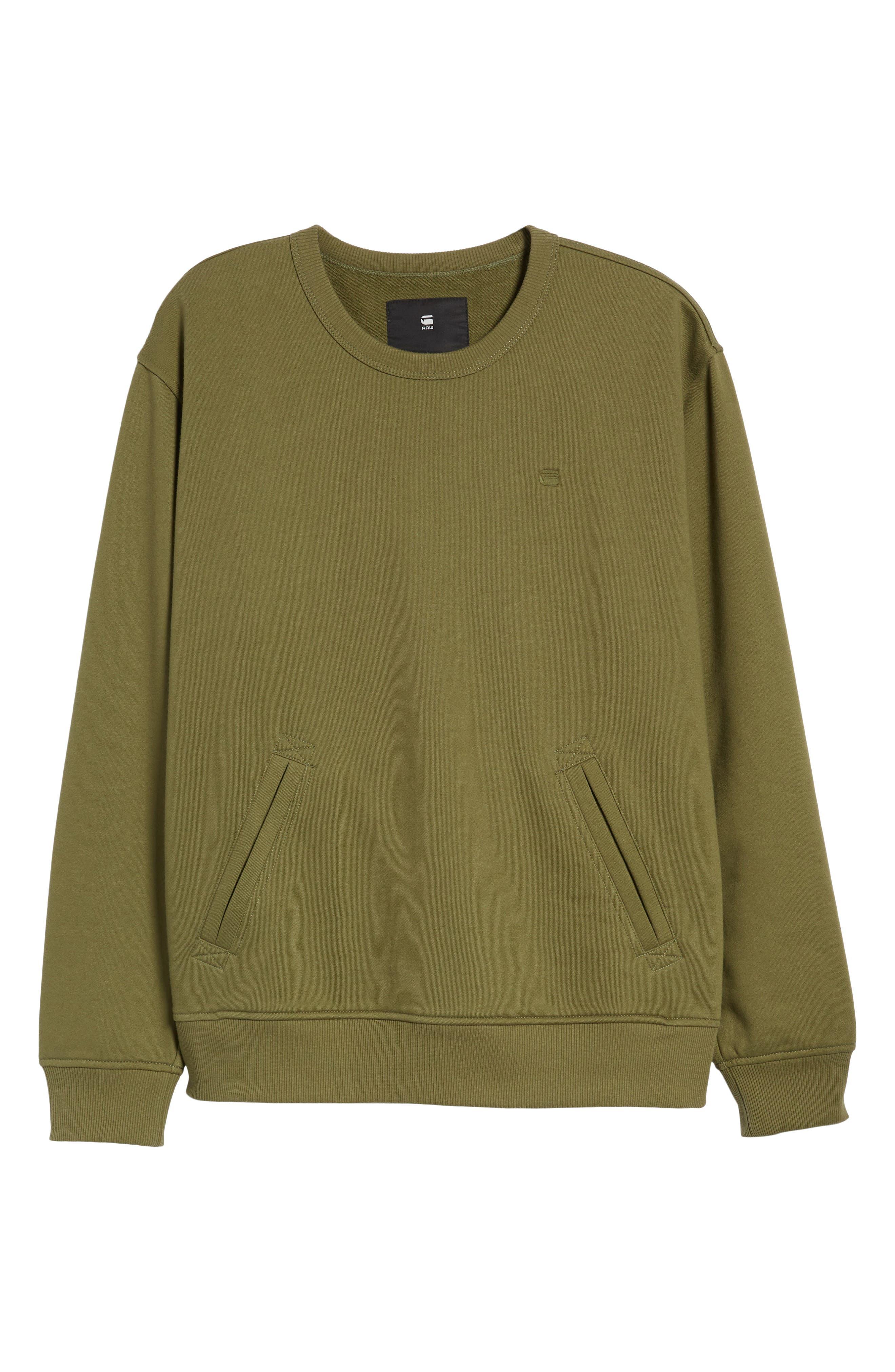 Core Hybrid Archive Sweatshirt,                             Alternate thumbnail 6, color,                             Sage