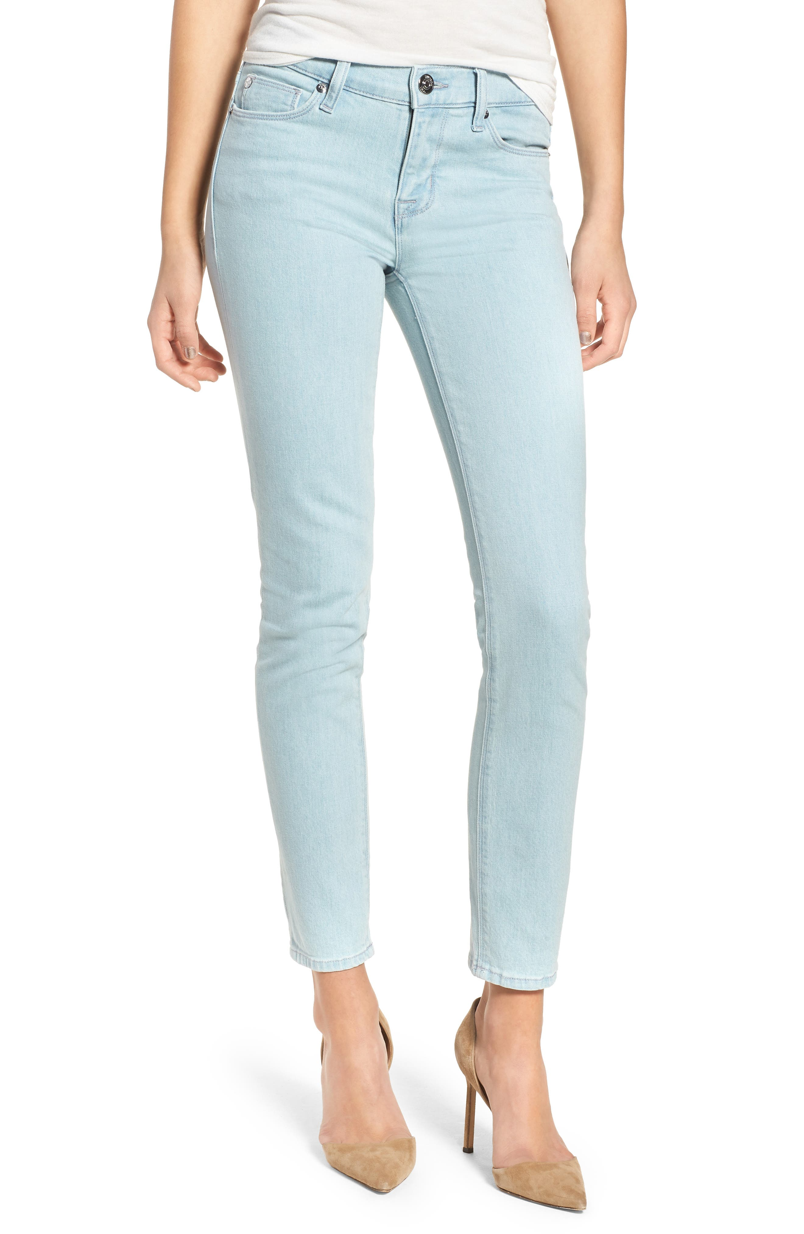 Tally Crop Skinny Jeans,                         Main,                         color, Sage Extract