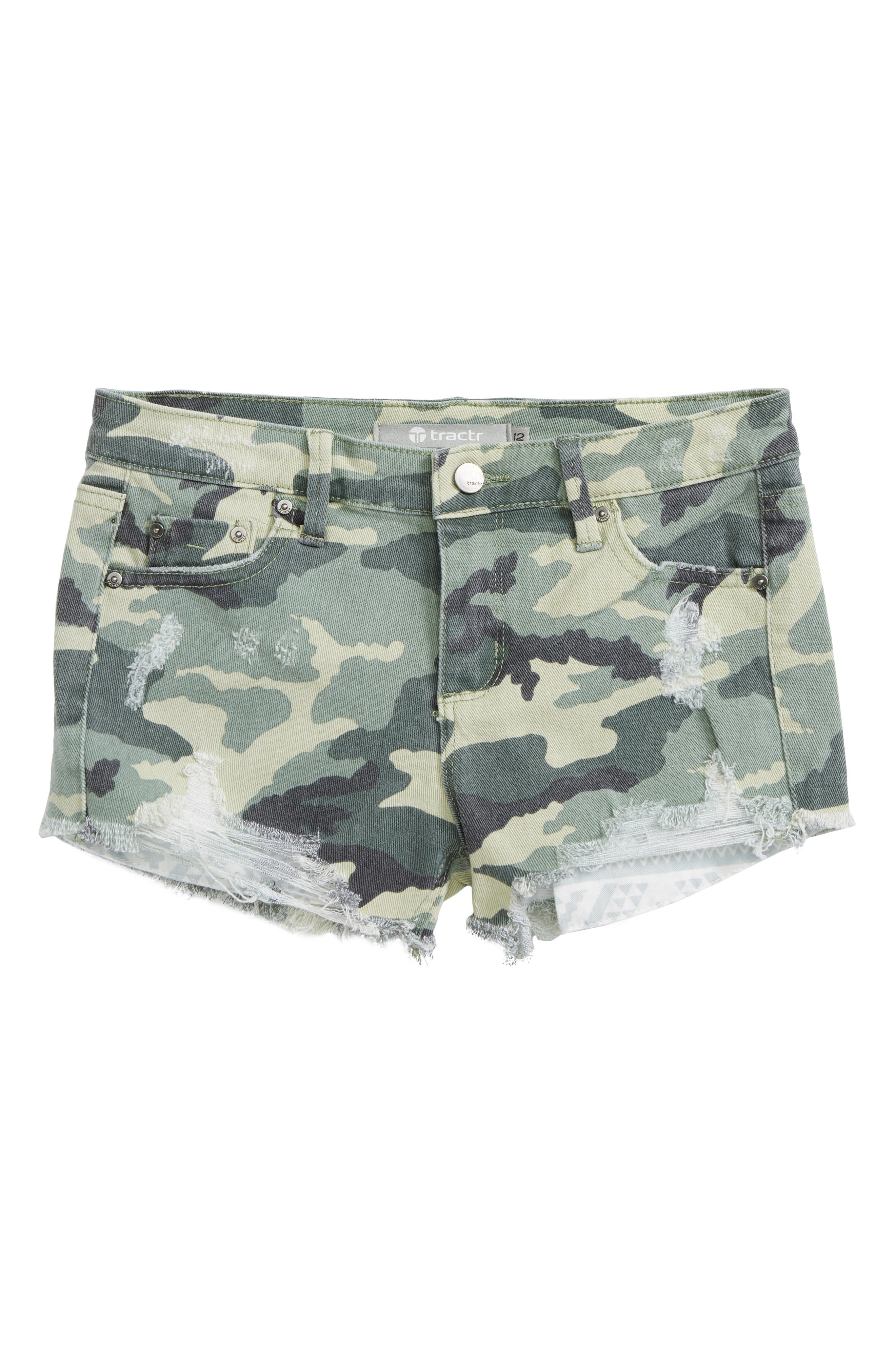 Camo Shorts,                         Main,                         color, Green