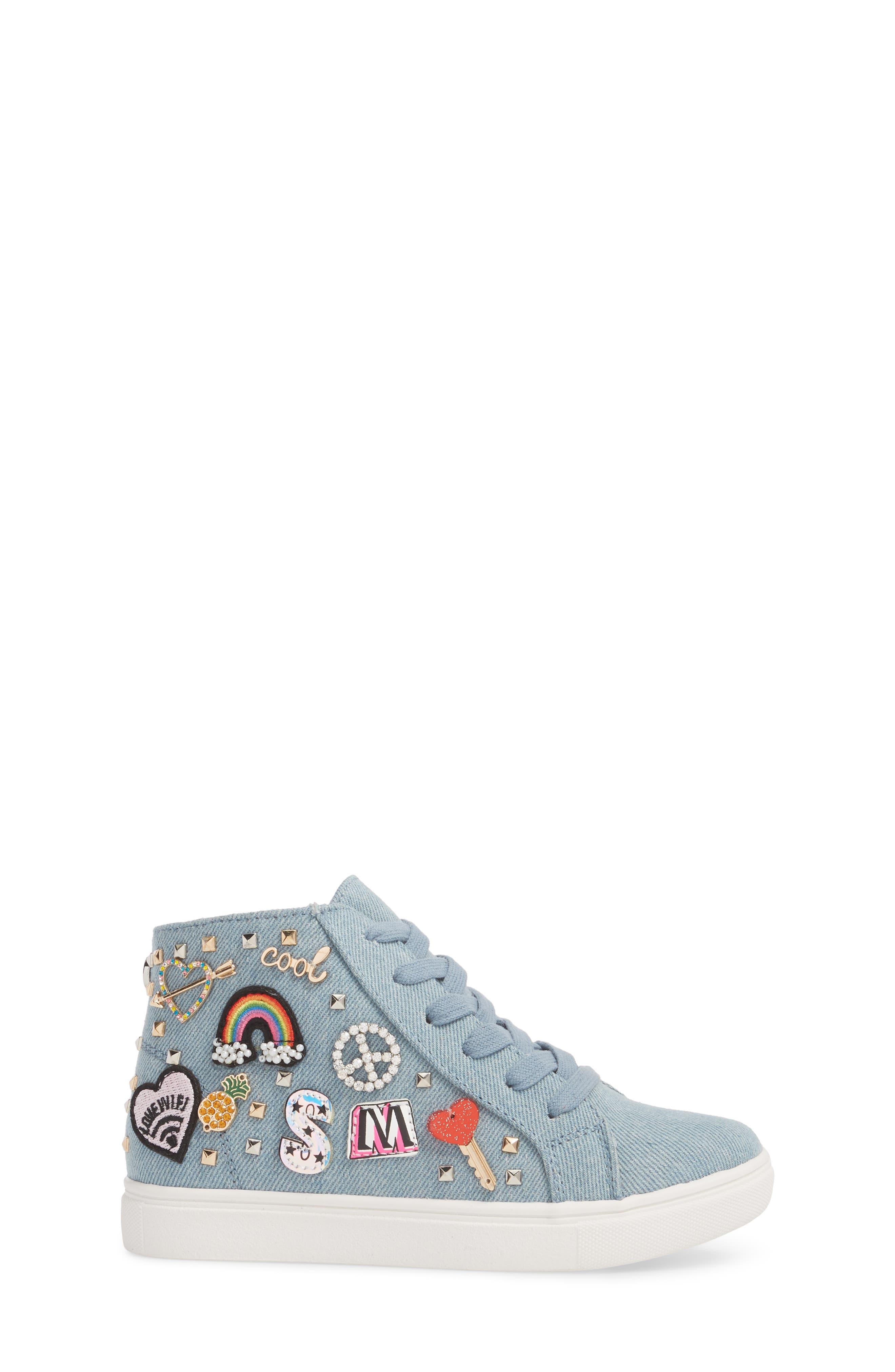 JKOOKIE High Top Sneaker,                             Alternate thumbnail 3, color,                             Denim