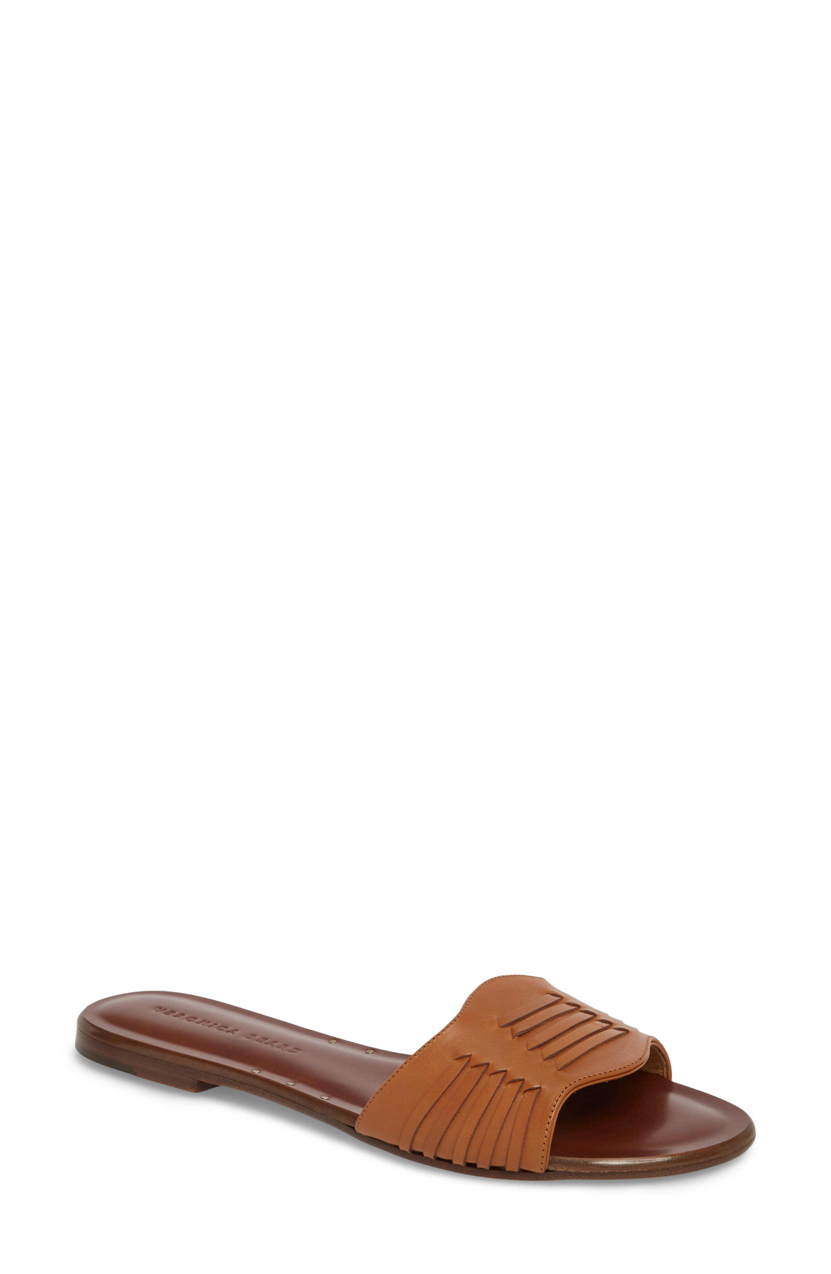 Veronica Beard Faven Woven Slide Sandal (Women)