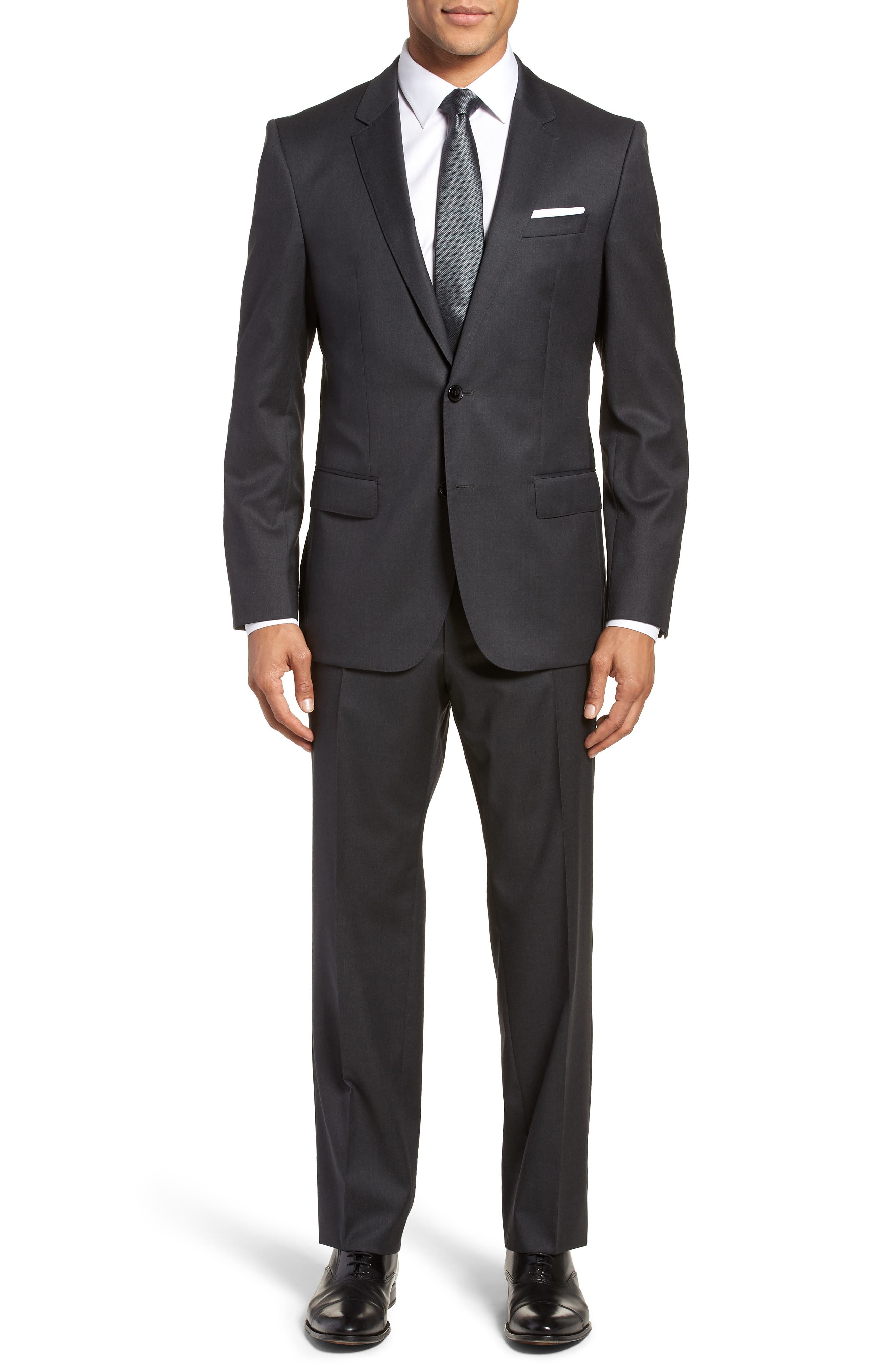 Hayes CYL Trim Fit Solid Wool Sport Coat,                             Alternate thumbnail 7, color,                             Dark Grey
