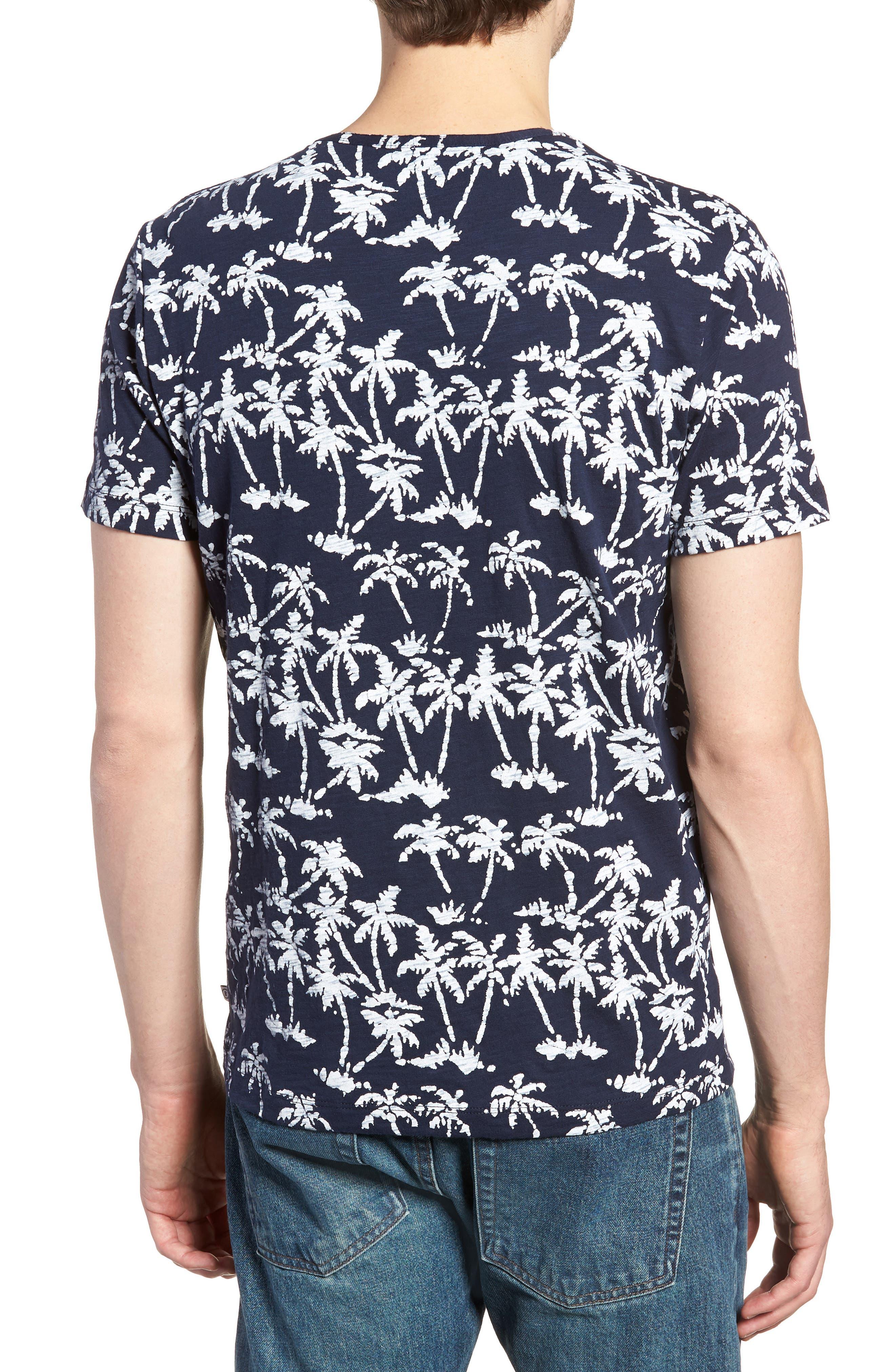 Print Henley T-Shirt,                             Alternate thumbnail 2, color,                             Batik Palms