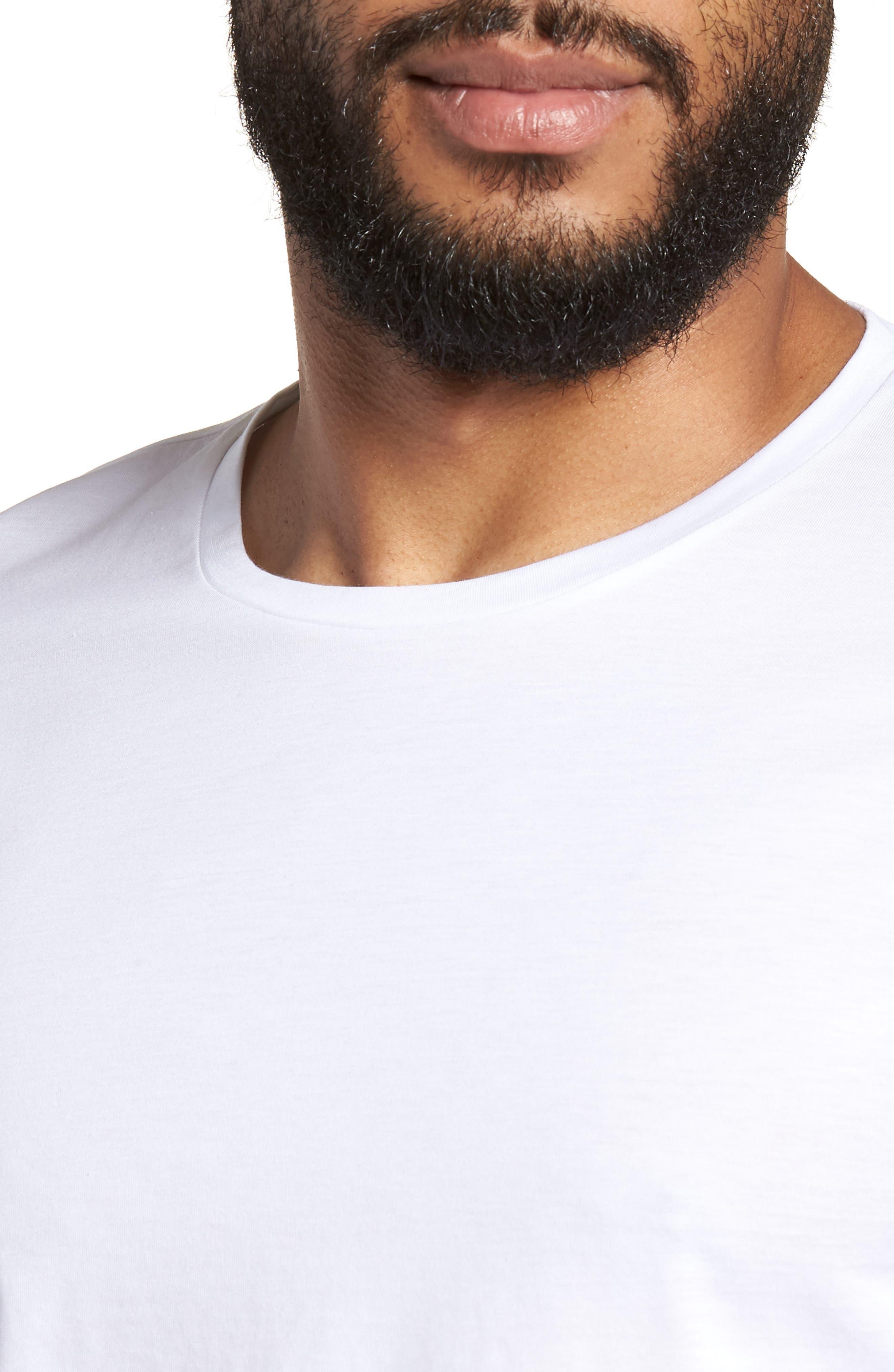 Tessler Crewneck T-Shirt,                             Alternate thumbnail 4, color,                             White