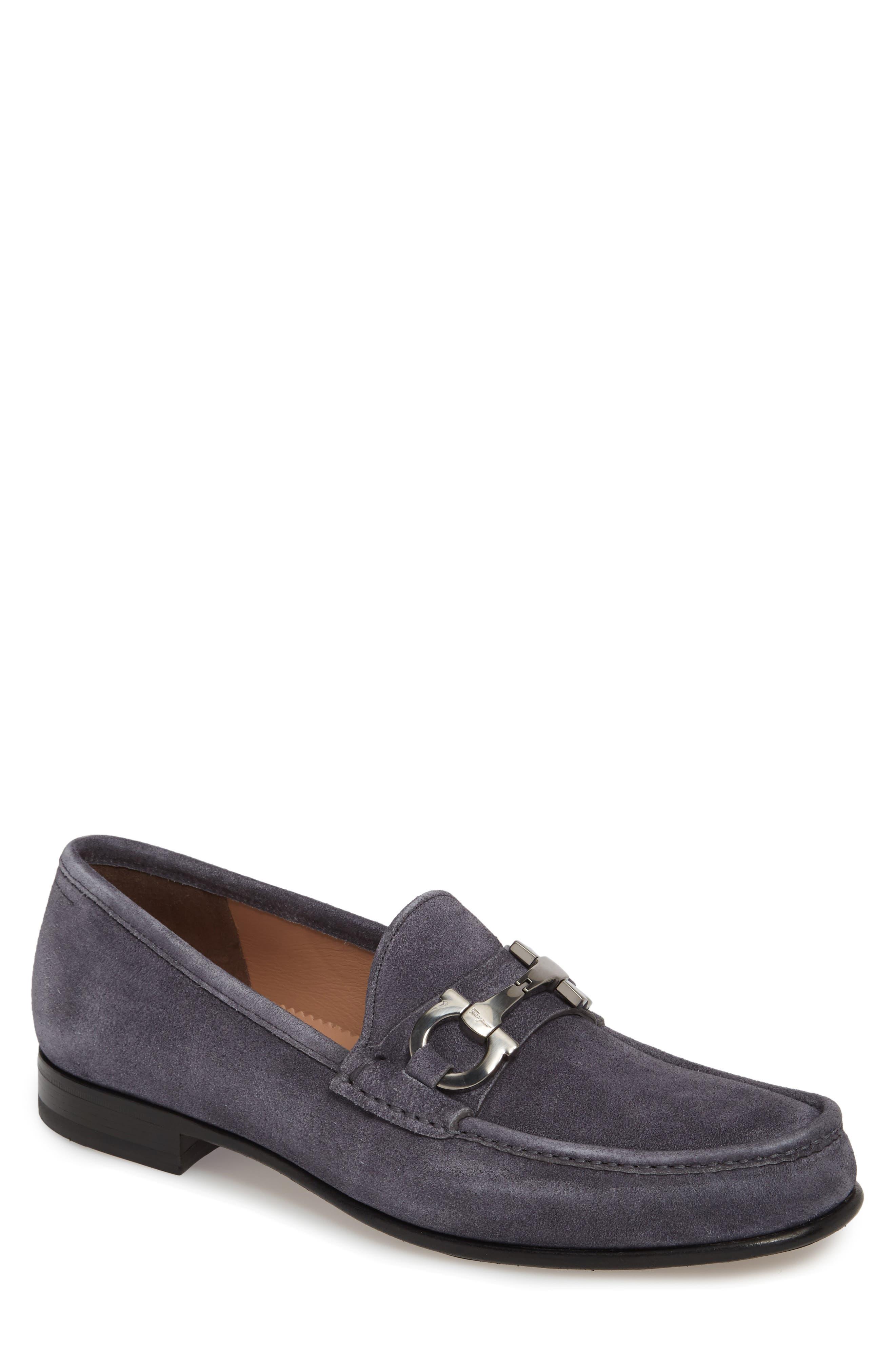 Men's VALENTINO Garavani Black Leather Slip On Loafers Dress Shoes Sz EUR 42 US