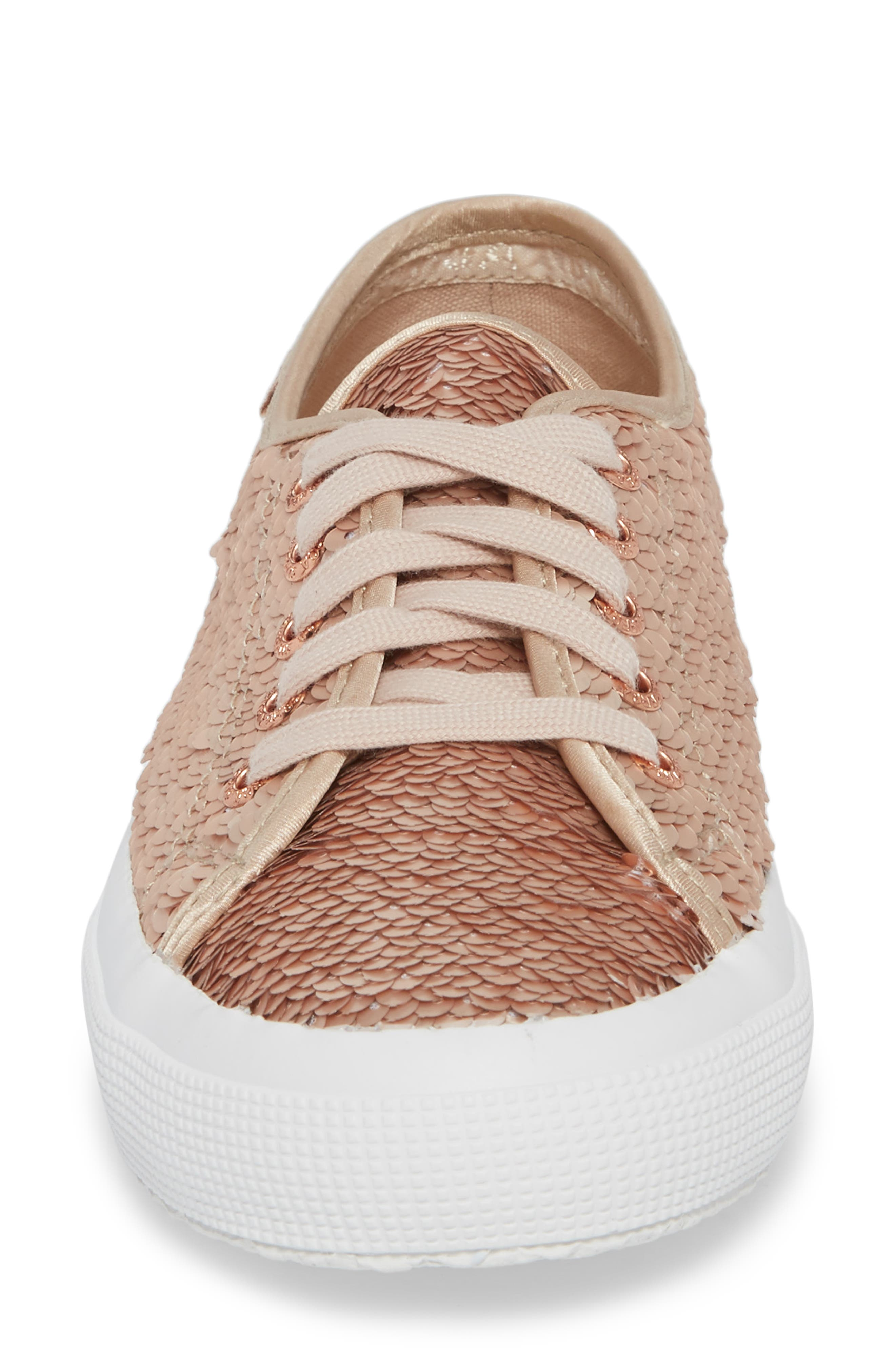 2750 Pairidescent Low Top Sneaker,                             Alternate thumbnail 4, color,                             Rose Gold/ Rose Gold