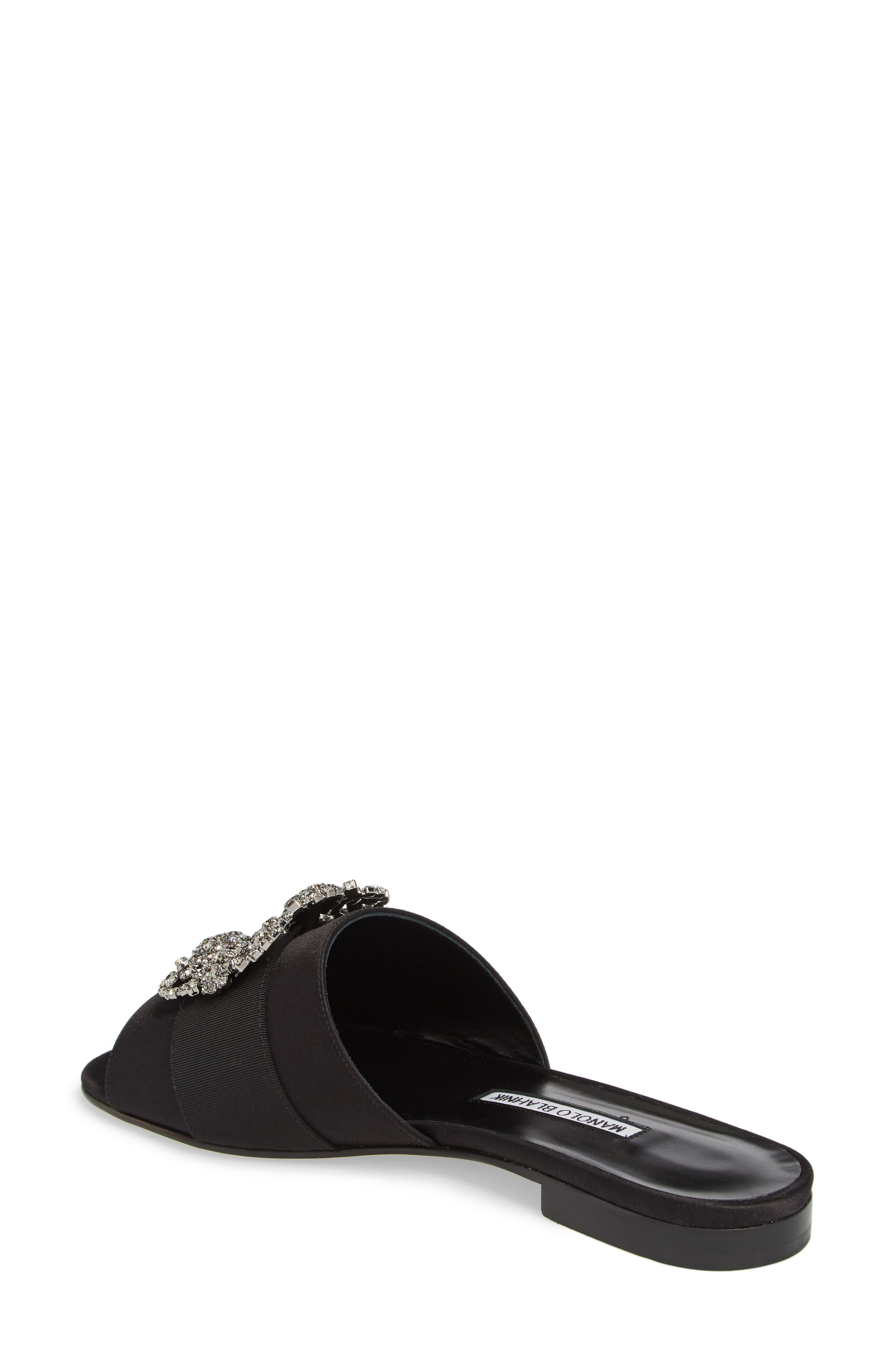 Alternate Image 2  - Manolo Blahnik Martamod Crystal Embellished Slide Sandal (Women)