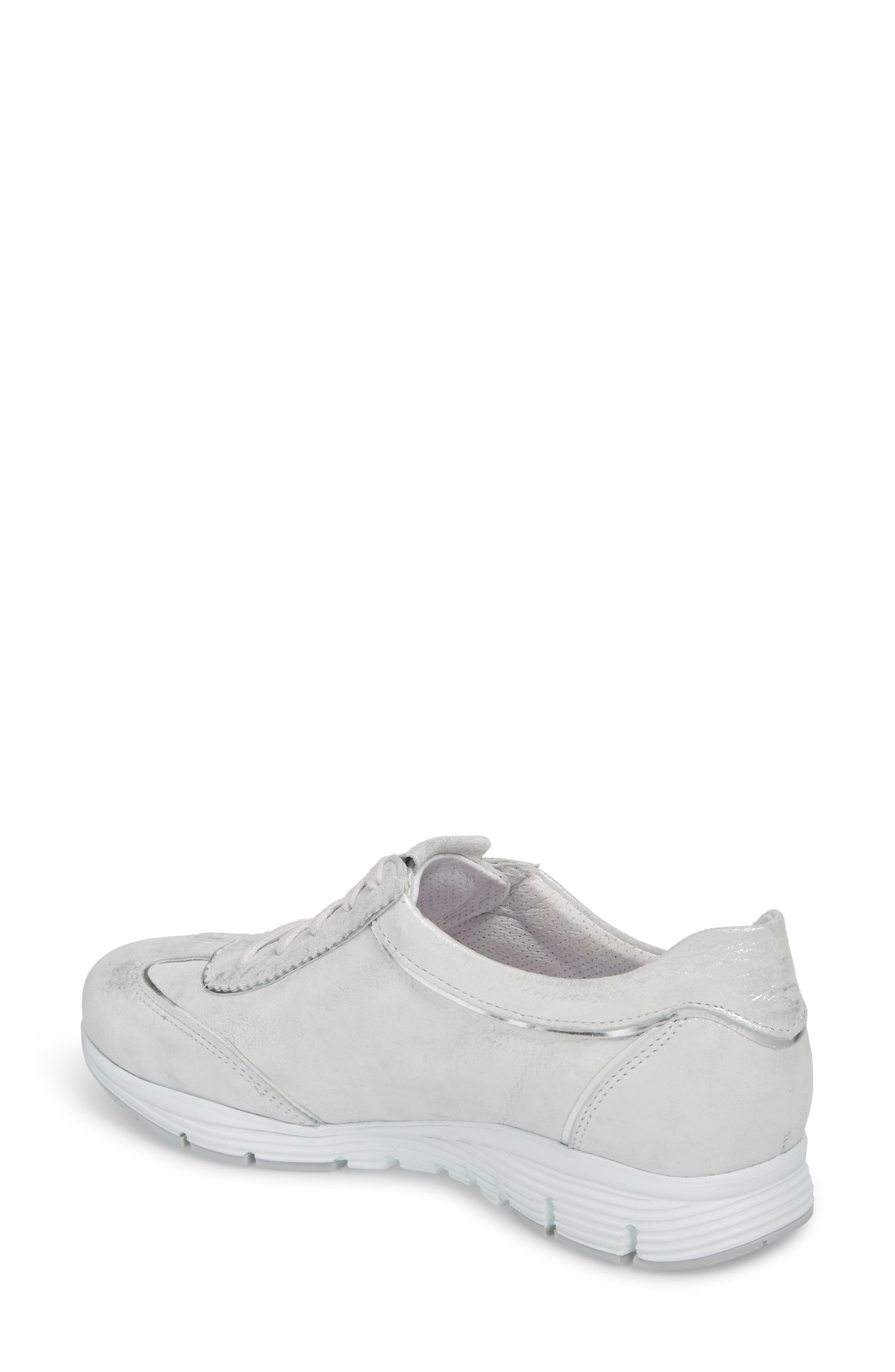 'Yael' Soft-Air Sneaker,                             Alternate thumbnail 2, color,                             Silver Leather