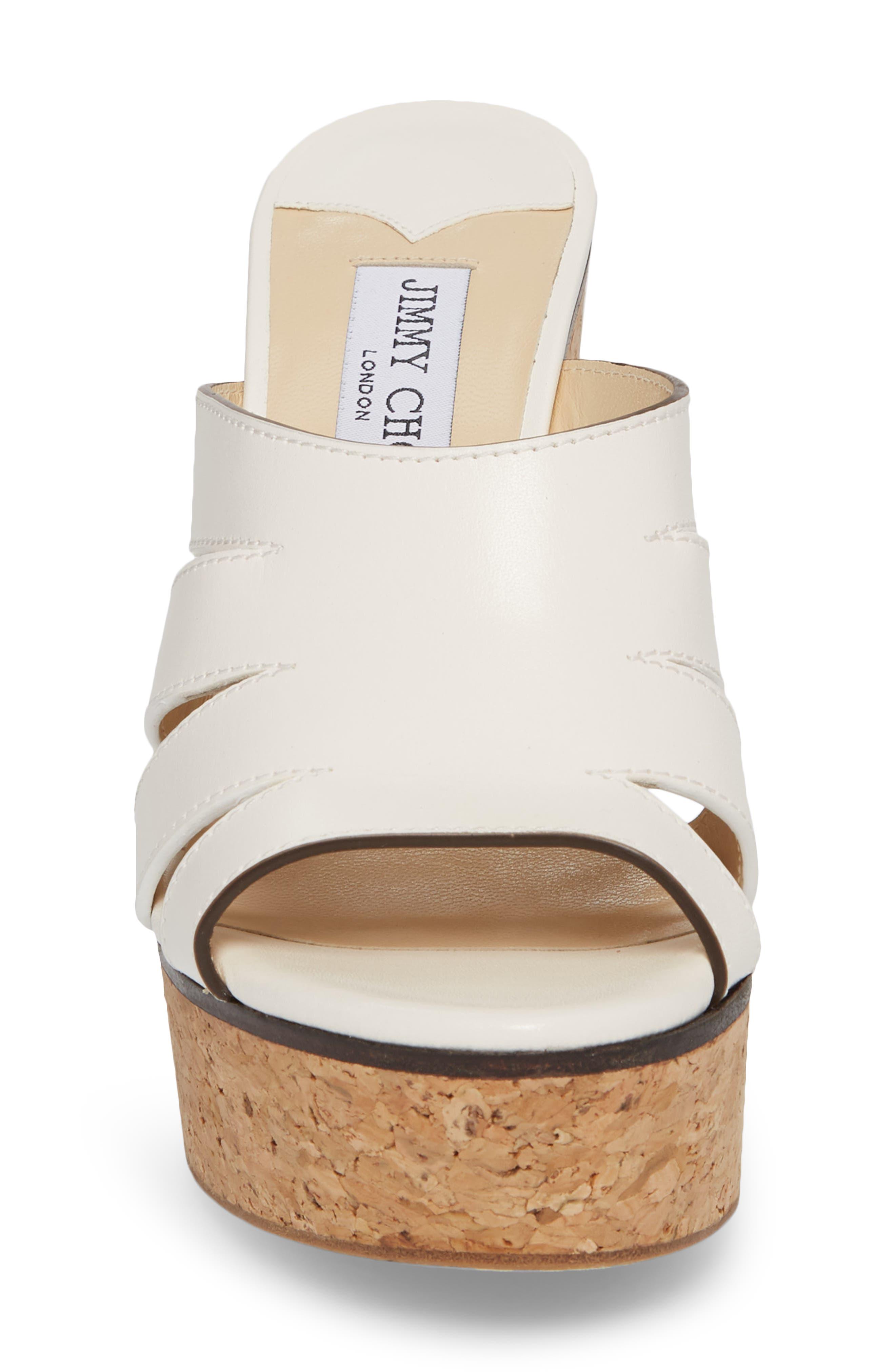 Dray Platform Slide Sandal,                             Alternate thumbnail 4, color,                             Chalk