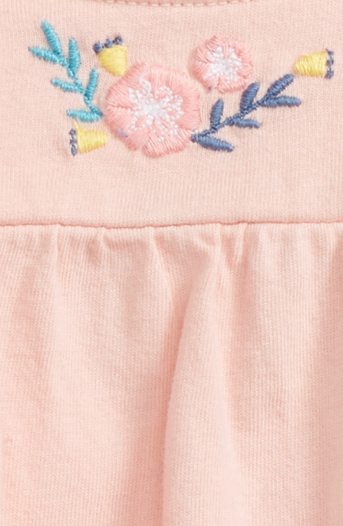 Embroidered Tunic & Leggings Set,                             Alternate thumbnail 2, color,                             Pink Powder Wild Flowers
