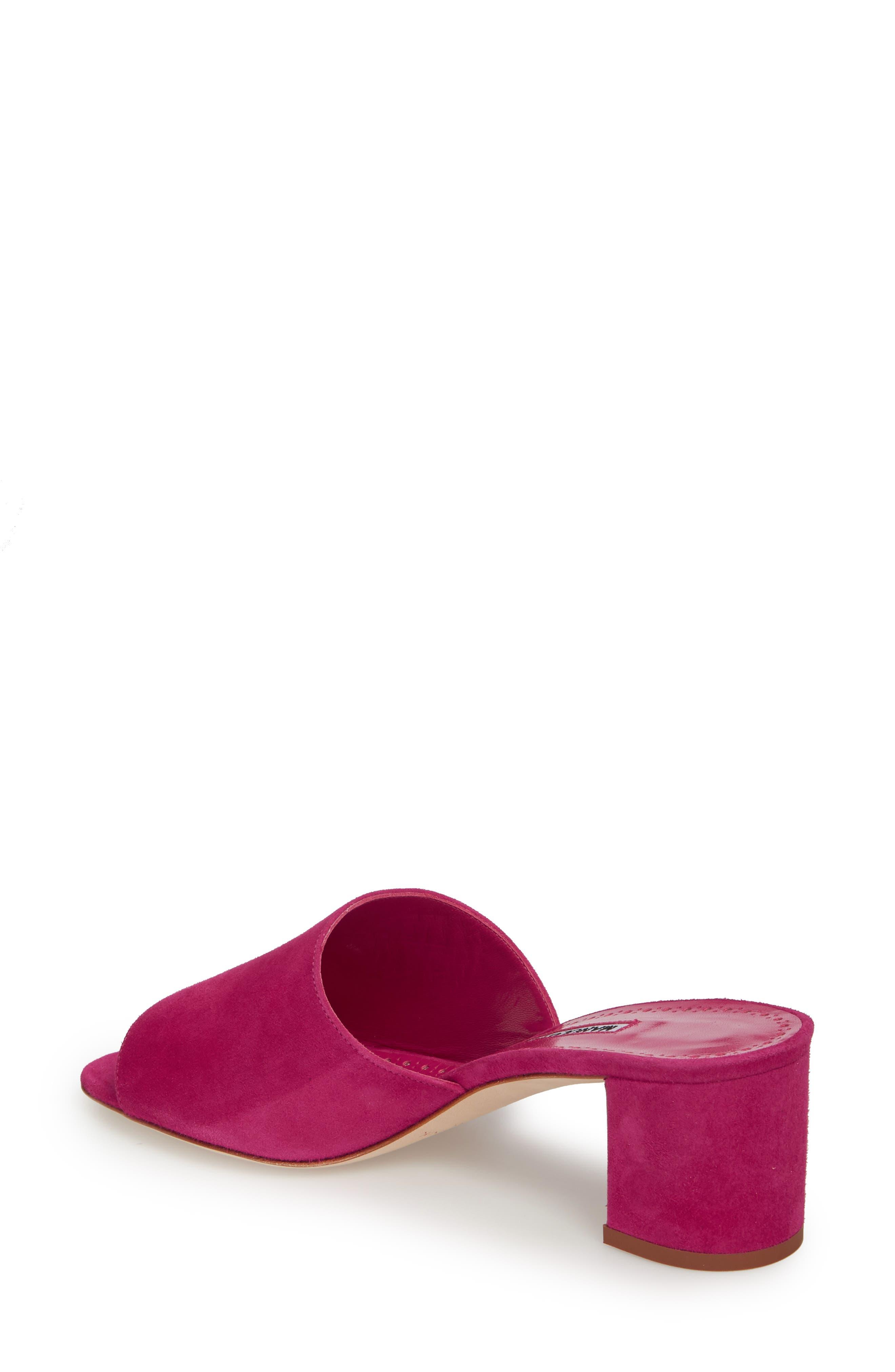 Rapallato Slide Sandal,                             Alternate thumbnail 2, color,                             Fuchsia Suede