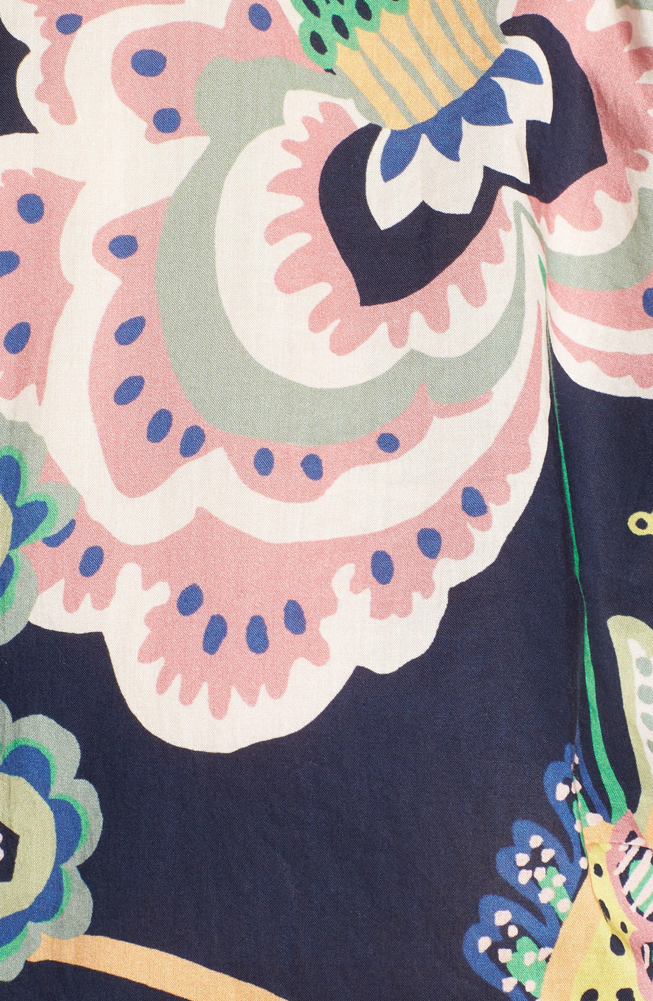 Perfect Liberty<sup>®</sup> Tana Lawn Shirt,                             Alternate thumbnail 6, color,                             Navy Multi