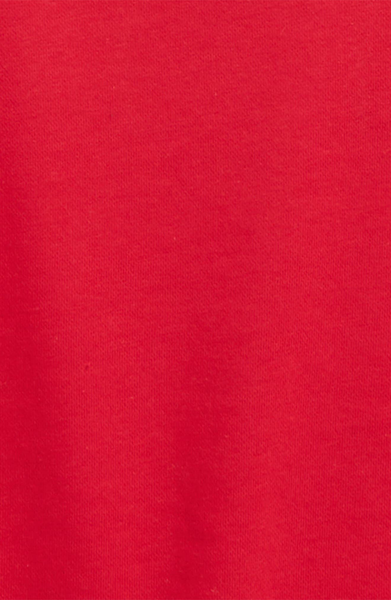 Lantern Sleeve Top,                             Alternate thumbnail 2, color,                             Red