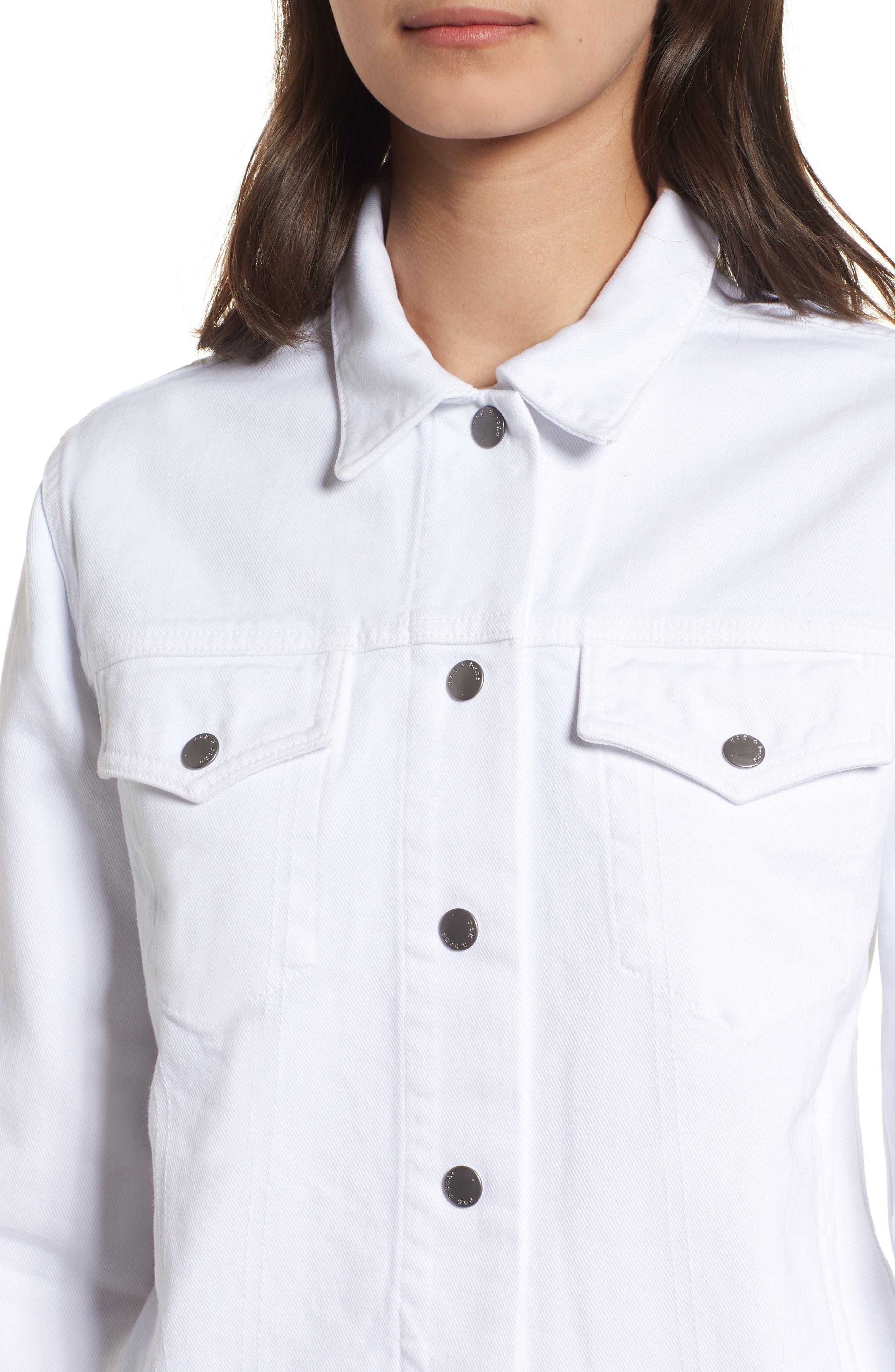 Nico Denim Jacket,                             Alternate thumbnail 4, color,                             White