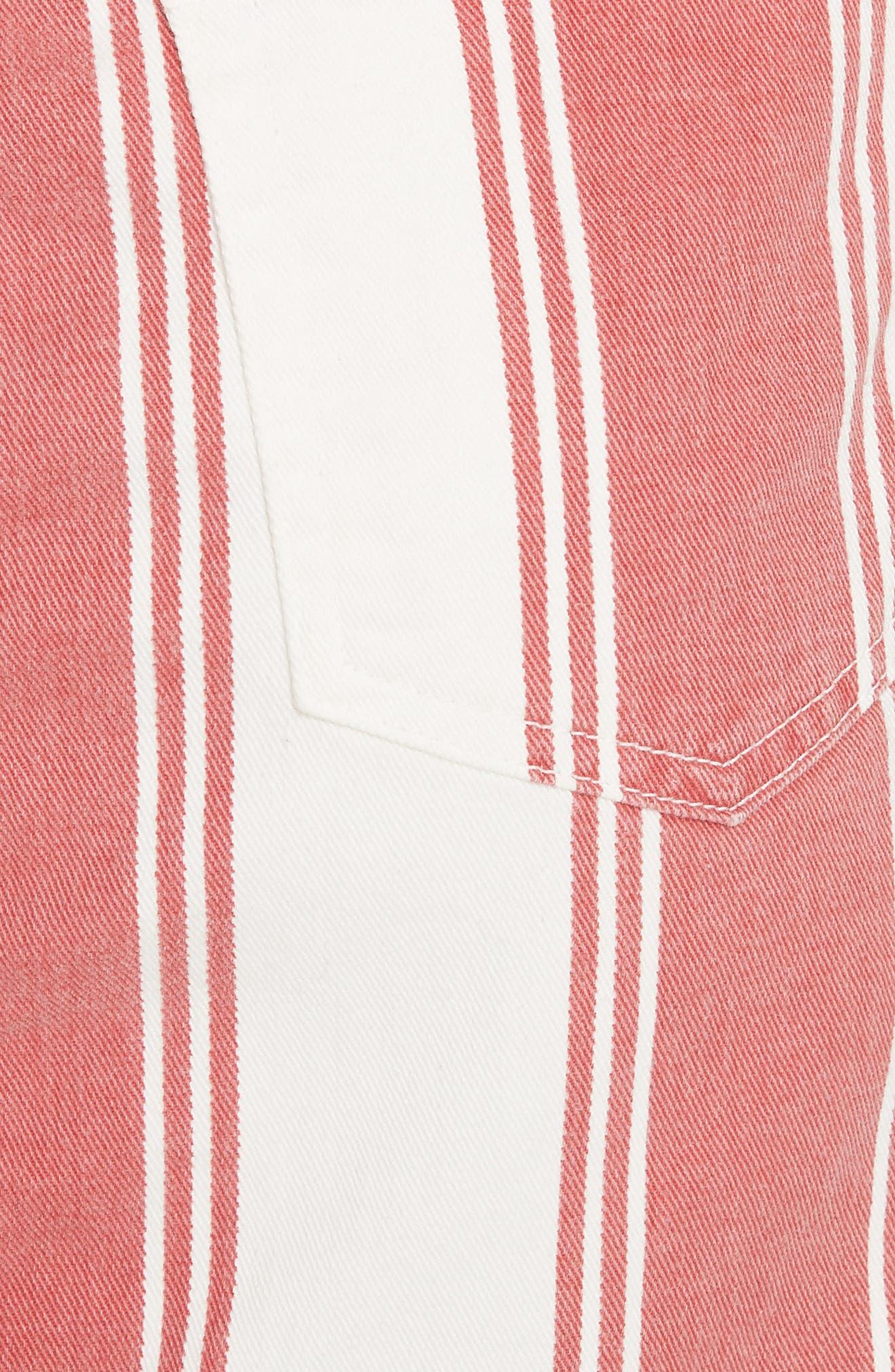 Le Mini Stripe Denim Skirt,                             Alternate thumbnail 3, color,                             Fiery Stripe