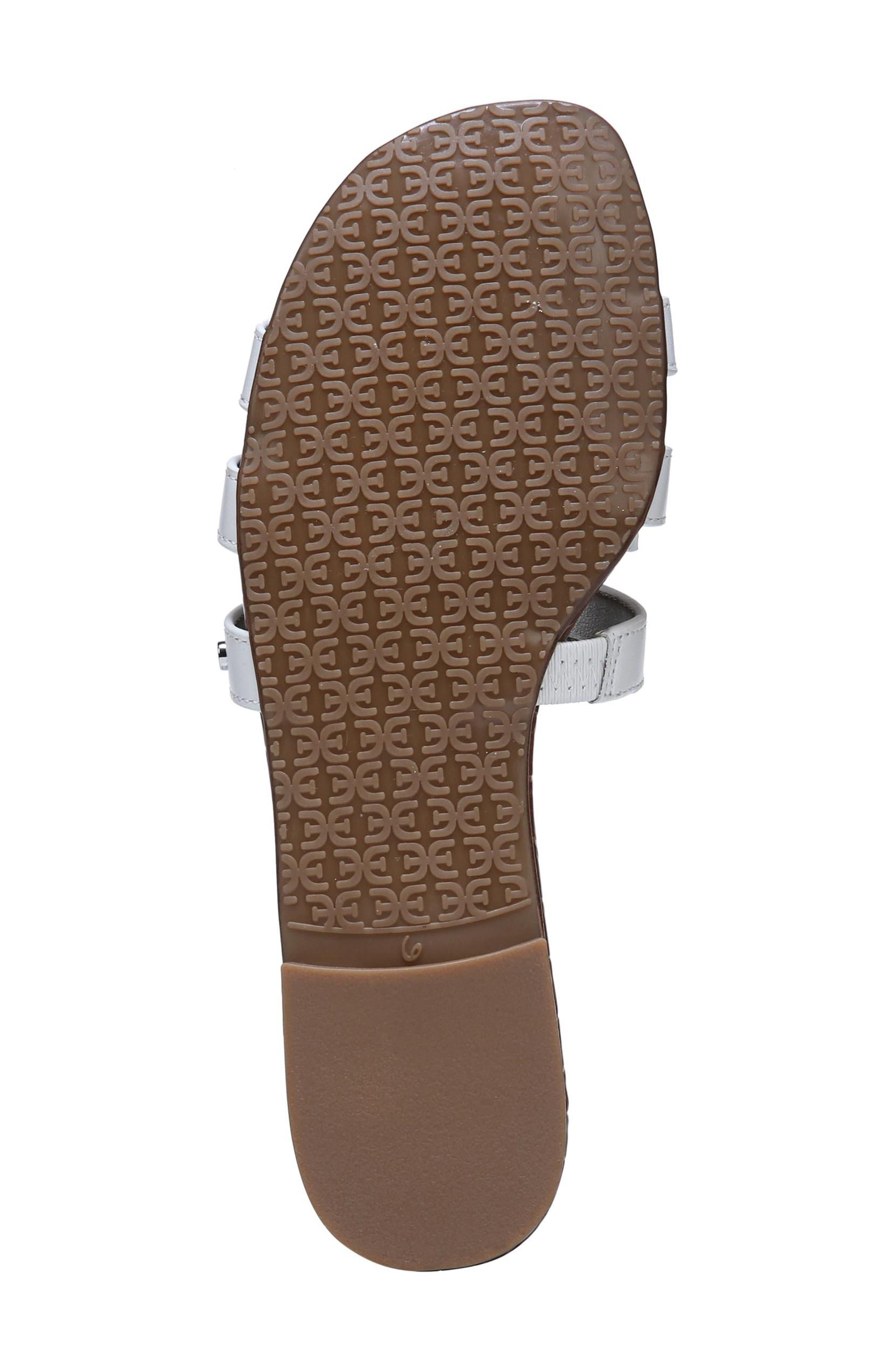 Bay Cutout Slide Sandal,                             Alternate thumbnail 6, color,                             Bright White Leather