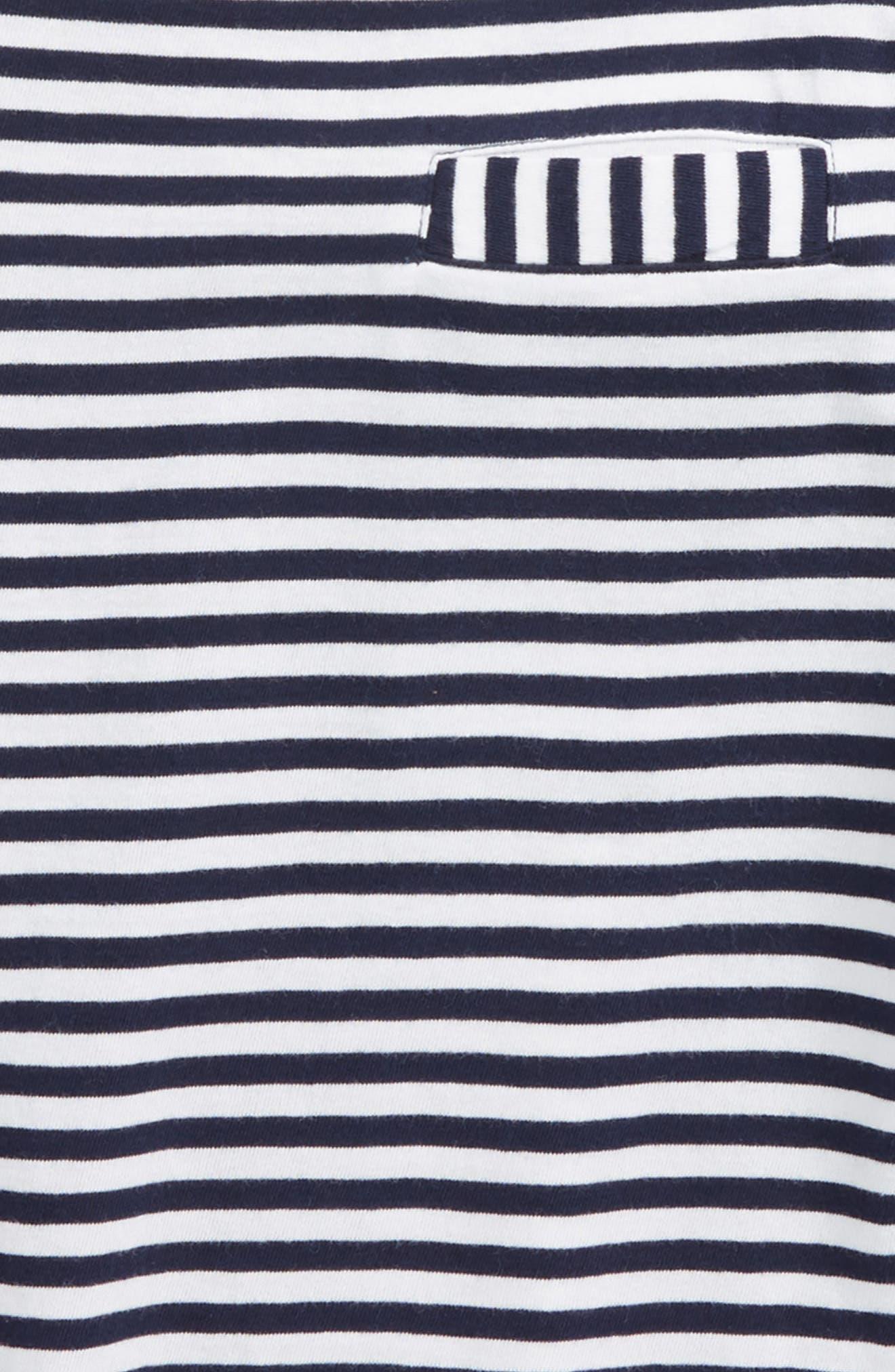 Stripe Pocket T-Shirt,                             Alternate thumbnail 2, color,                             Navy Denim- White Stripe