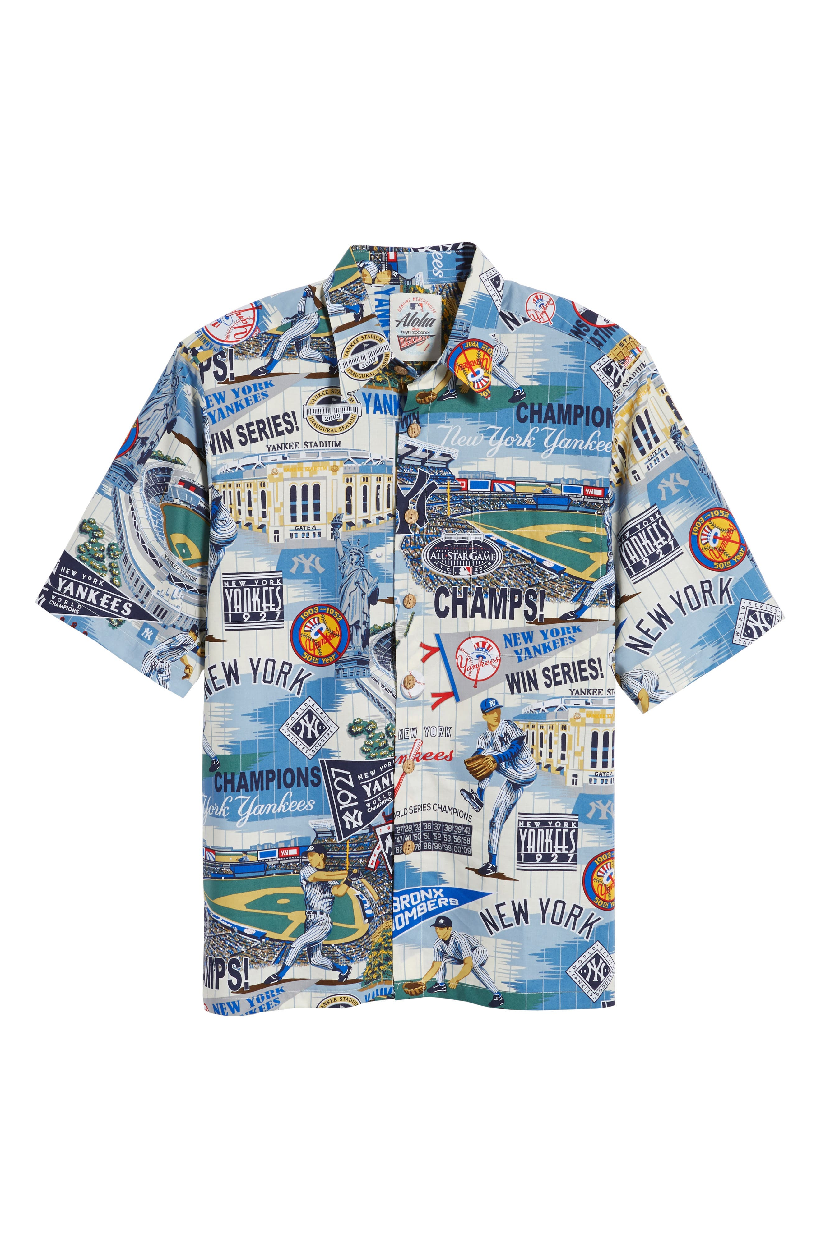 Alternate Image 6  - Reyn Spooner New York Yankees Classic Fit Camp Shirt
