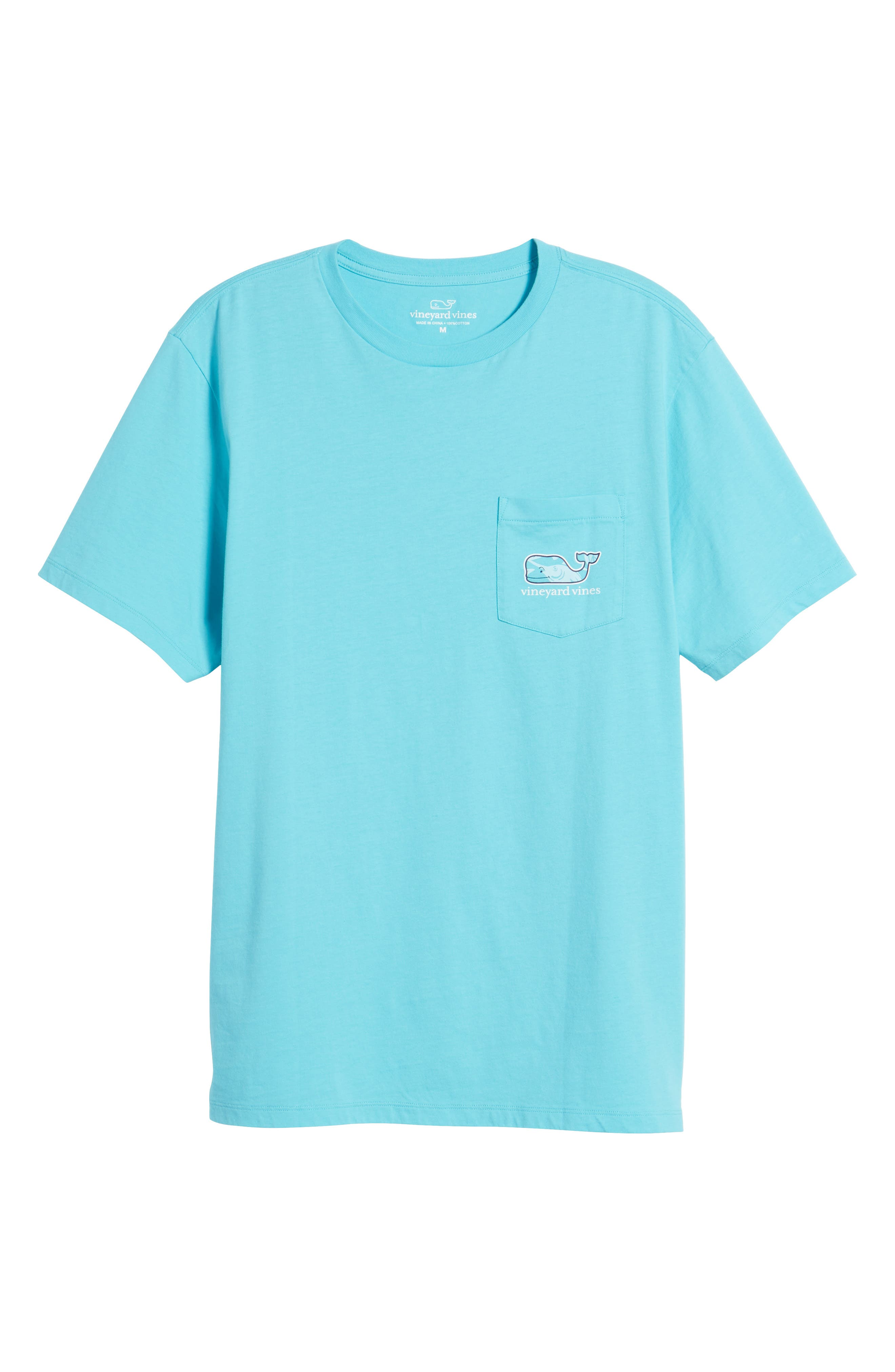 Marlin out of Water Whale Fill Pocket T-Shirt,                             Alternate thumbnail 6, color,                             Turquoise