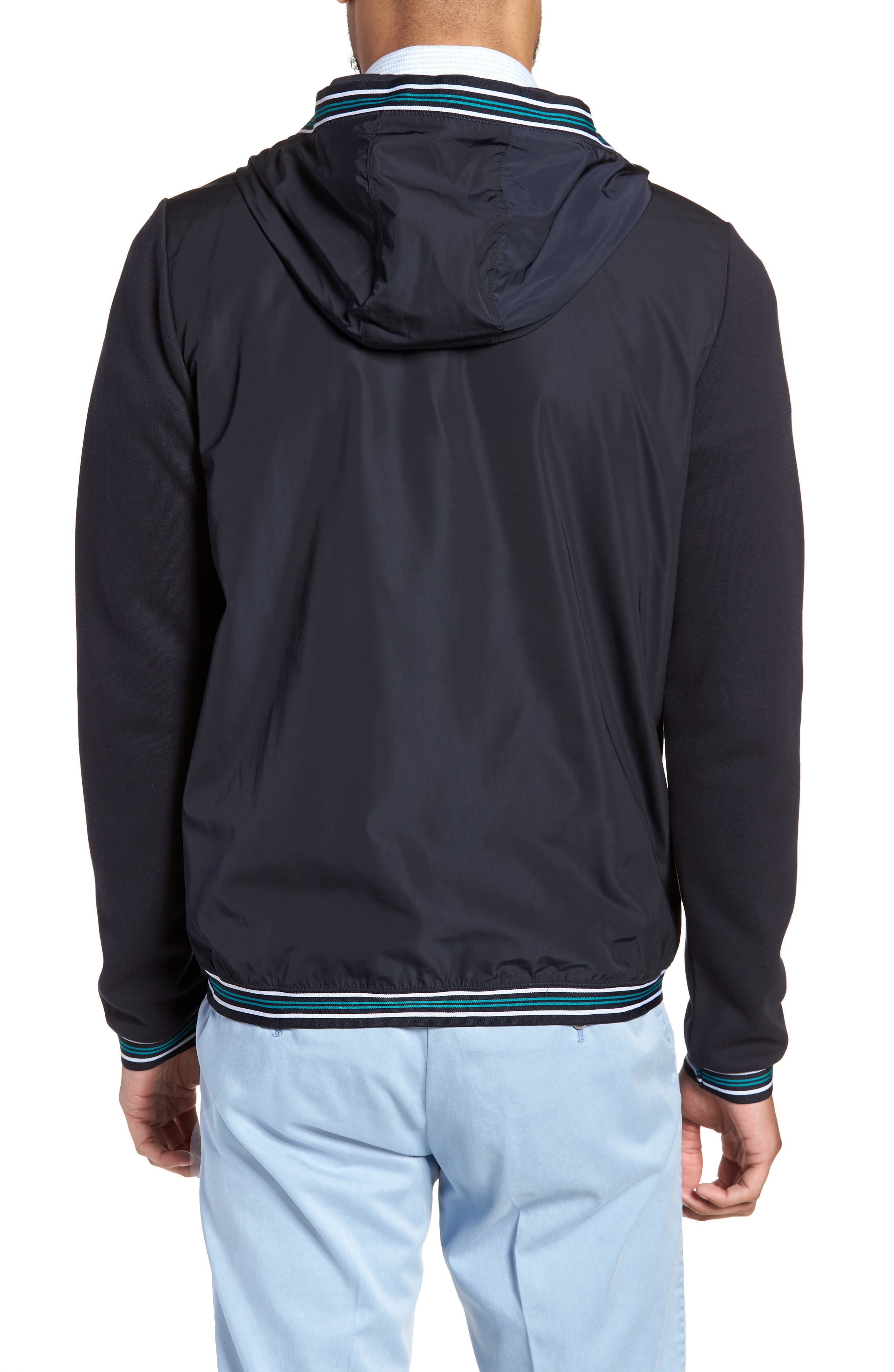 Sibly Slim Fit Jersey Hooded Jacket,                             Alternate thumbnail 2, color,                             Blue