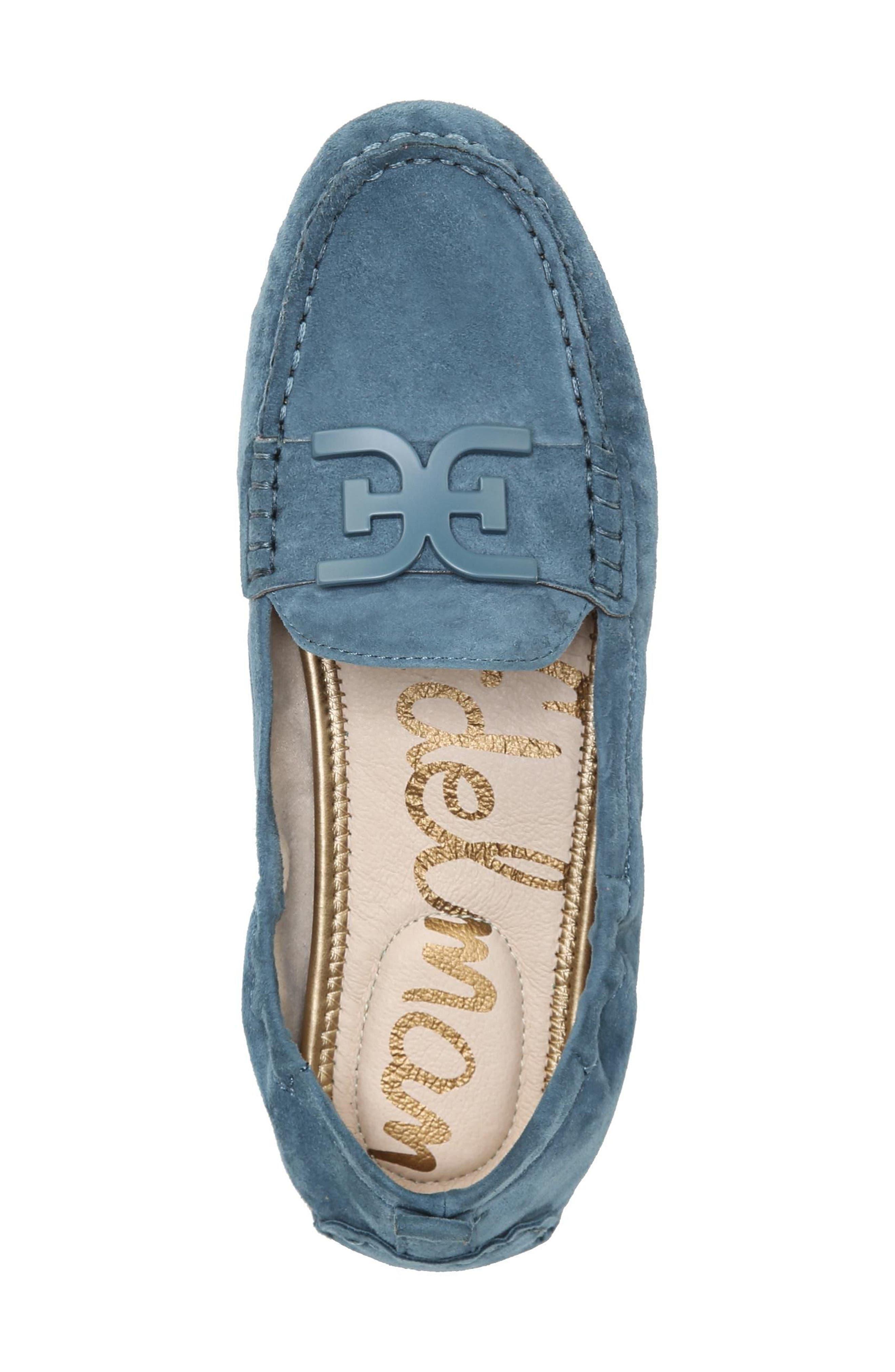 Farrell Moccasin Loafer,                             Alternate thumbnail 5, color,                             Denim Blue Suede