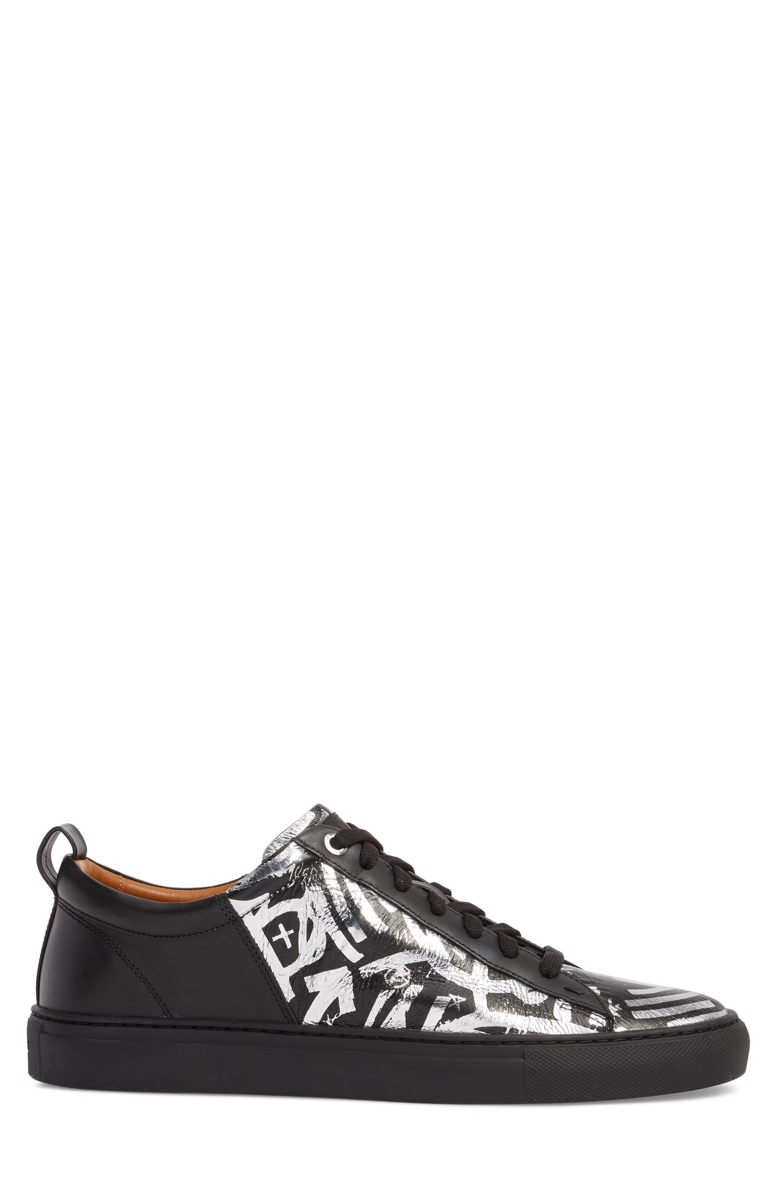 Herbi Low Top Sneaker,                             Alternate thumbnail 3, color,                             Silver
