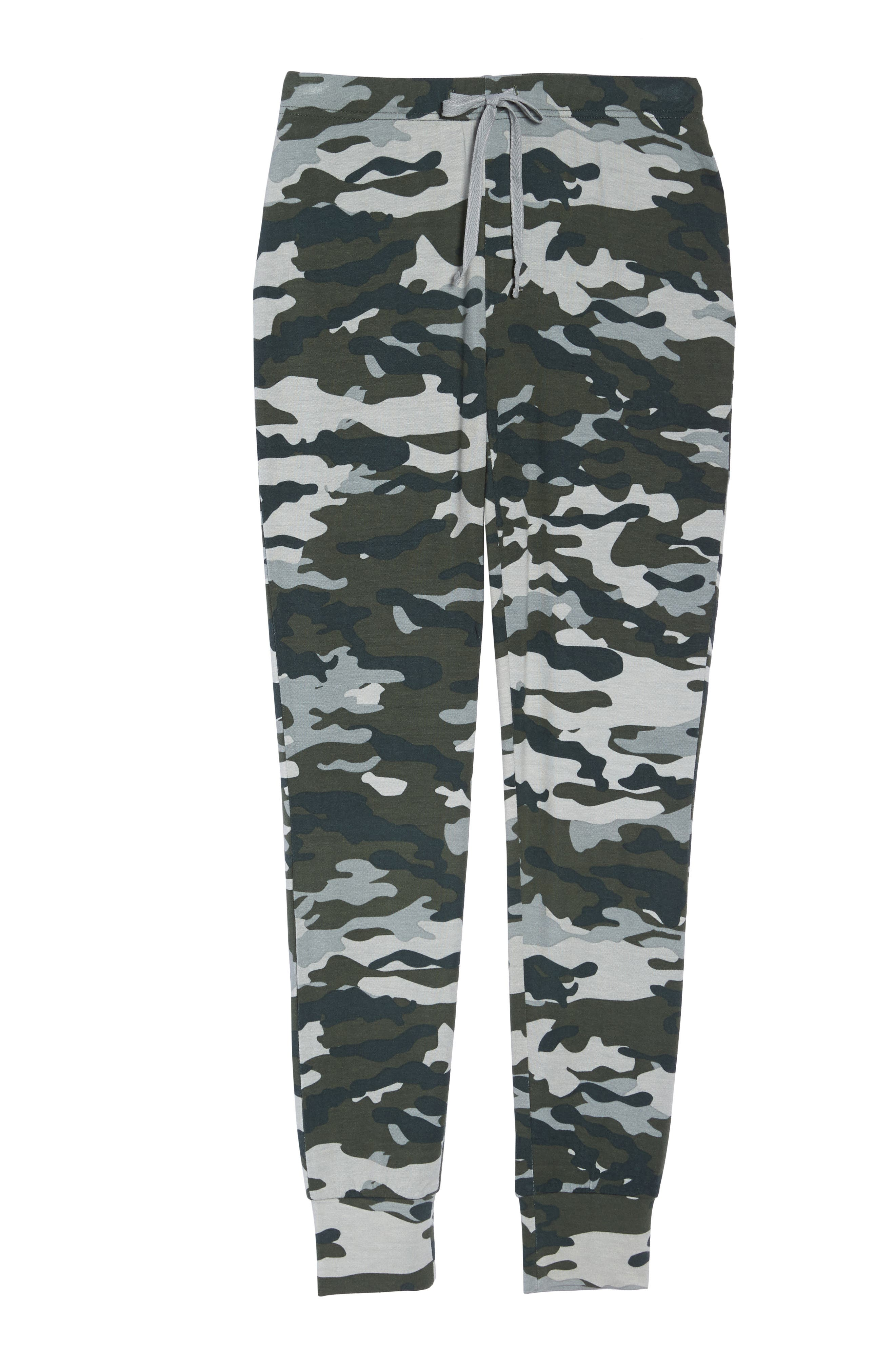 Kickin' It French Terry Lounge Pants,                             Alternate thumbnail 4, color,                             Army