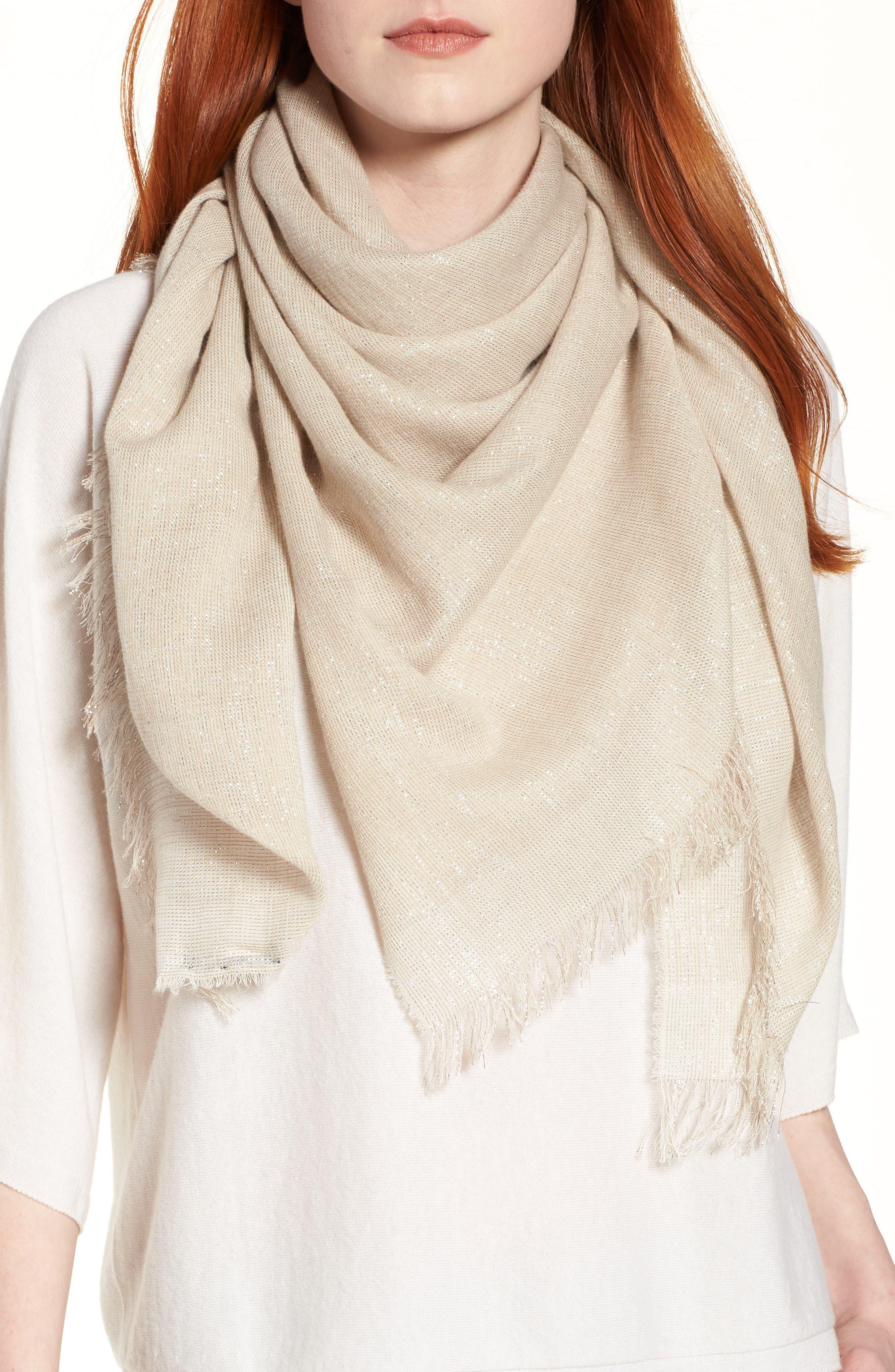 Organic Cotton Blend Wrap,                         Main,                         color, Natural