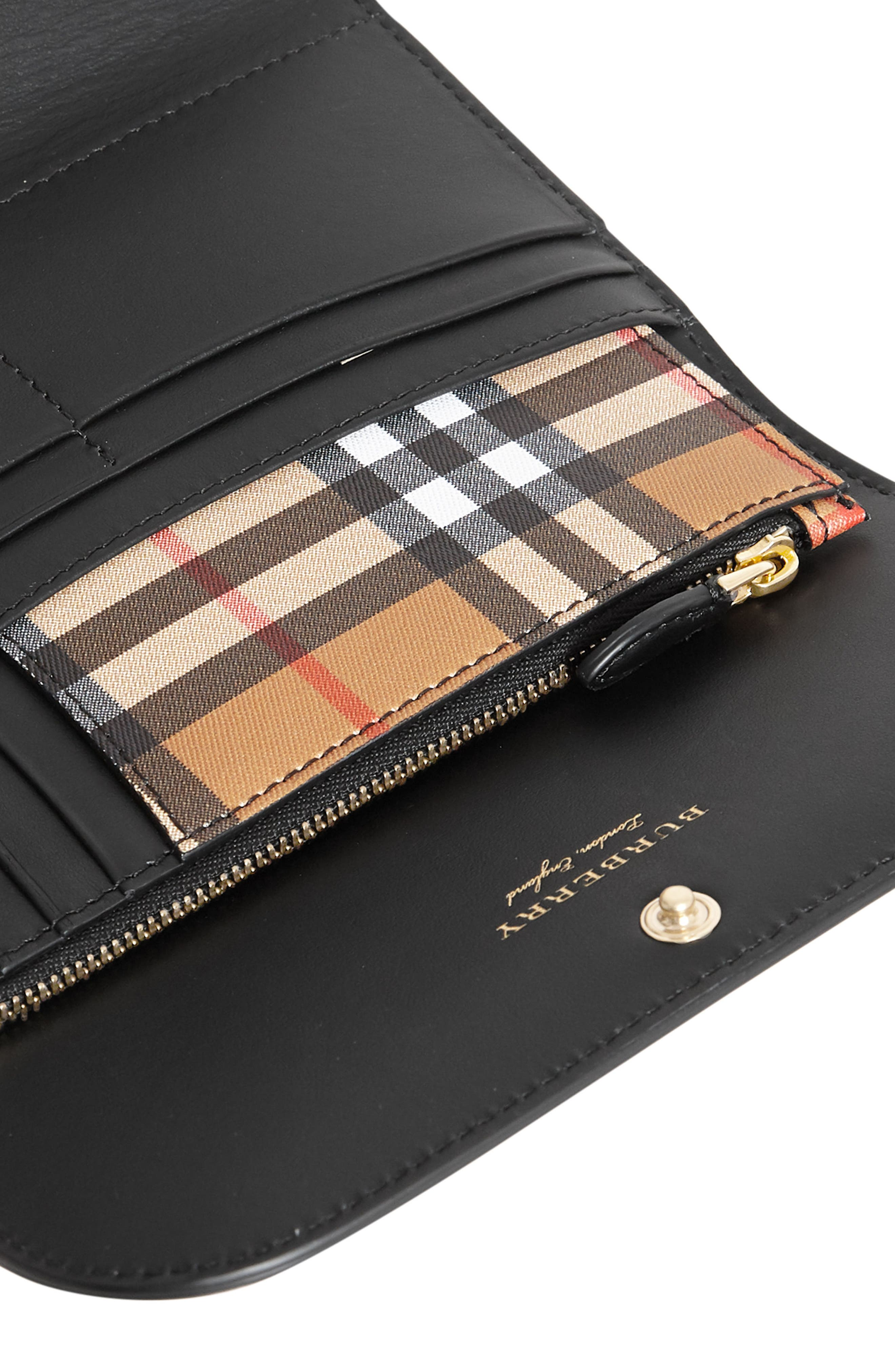Kenton Check Wallet,                             Alternate thumbnail 2, color,                             Black