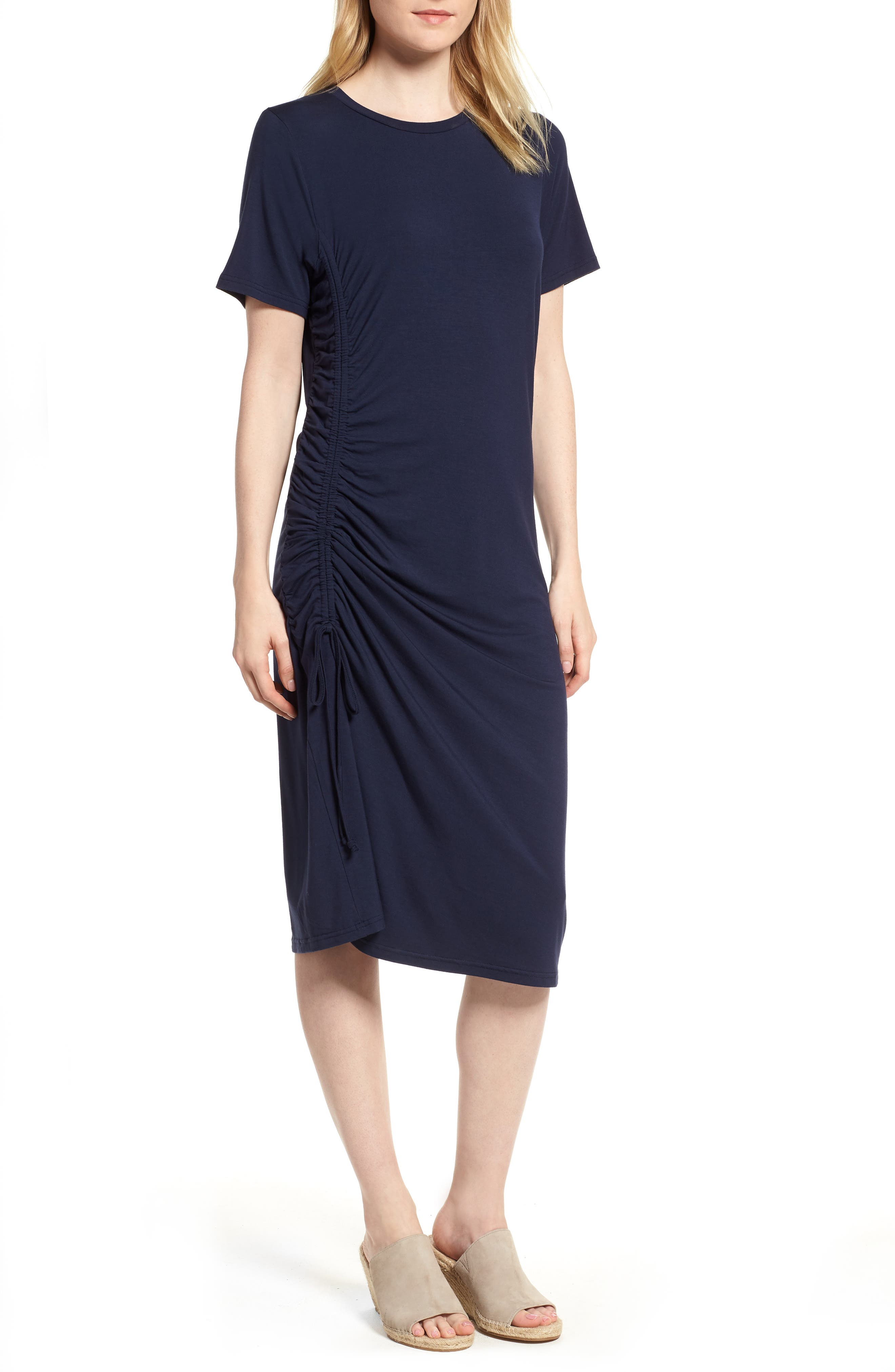 Press Ruched Side T-Shirt Dress