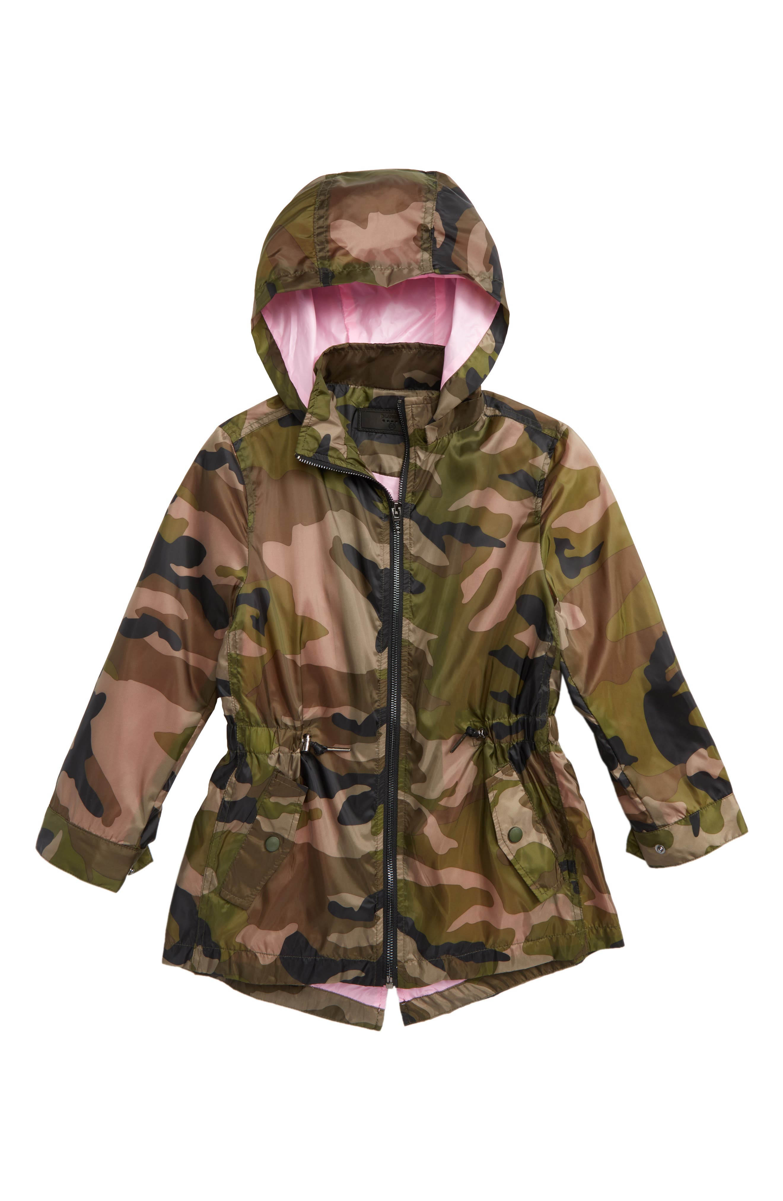 BLANKNYC Camo Hooded Parka (Big Girls)