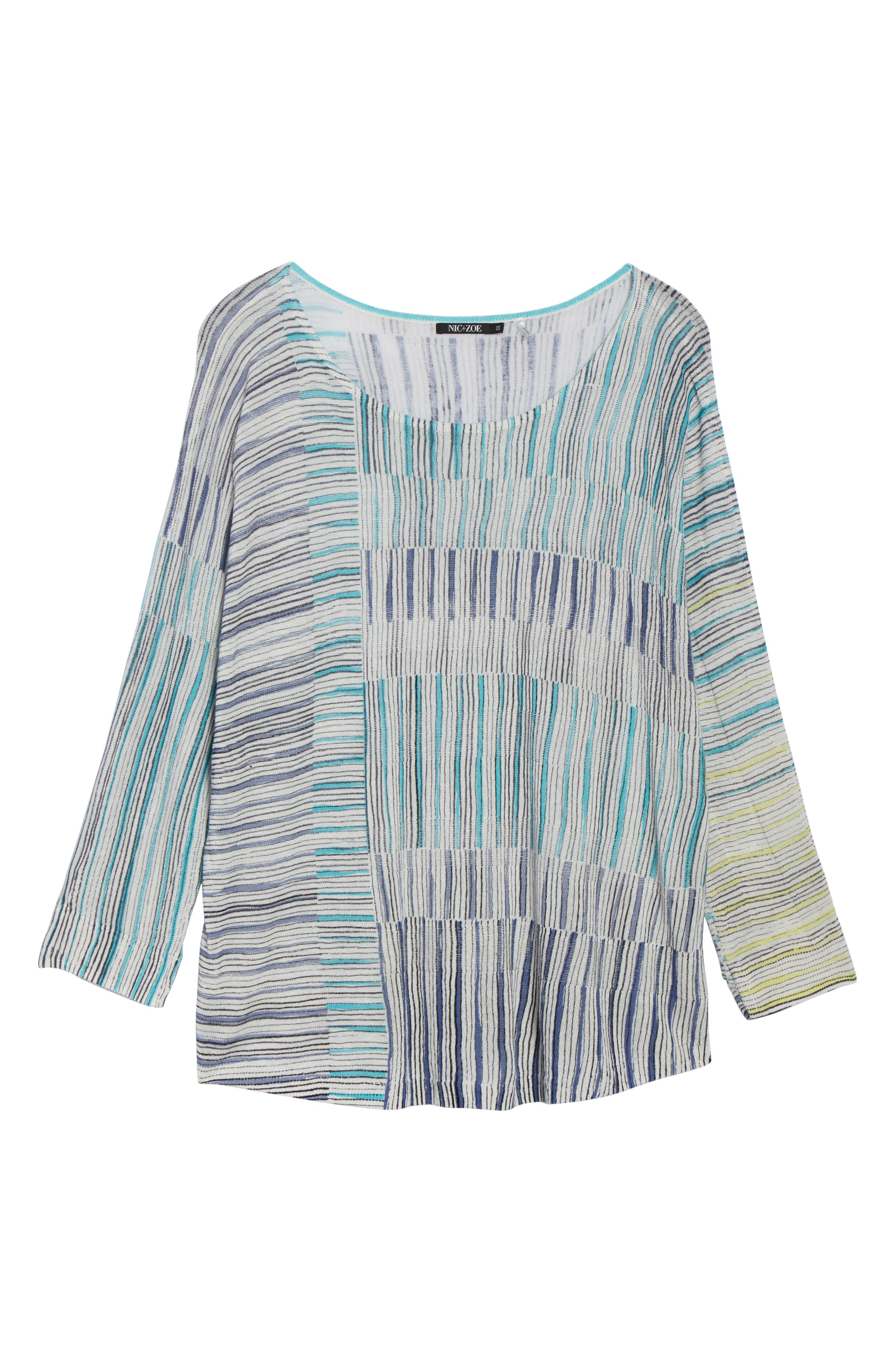 Sea Wall Stripe Scoop Neck Top,                             Alternate thumbnail 7, color,                             Multi