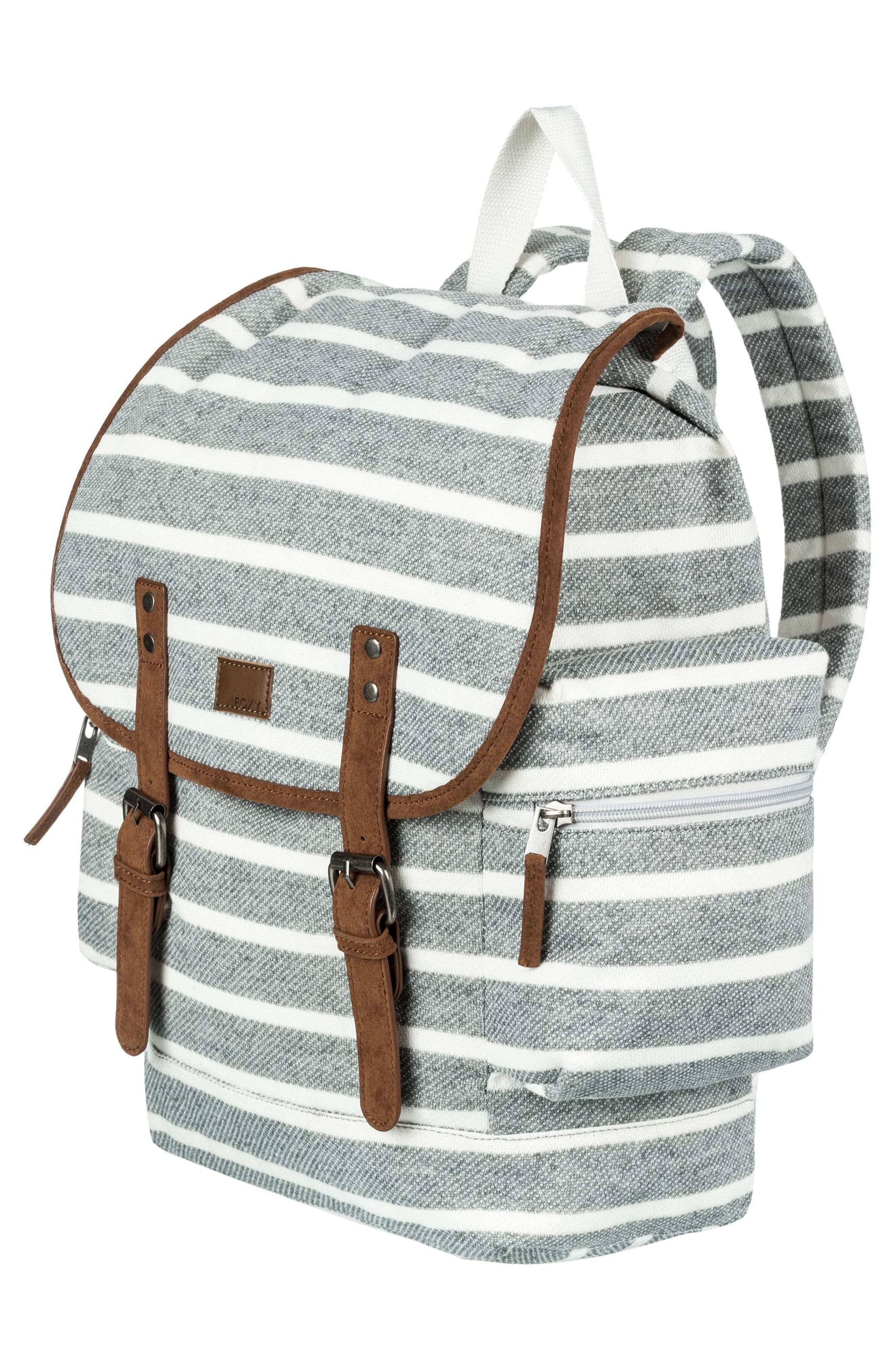 Free for Sun Fleece Backpack,                             Alternate thumbnail 3, color,                             Heritage Heather