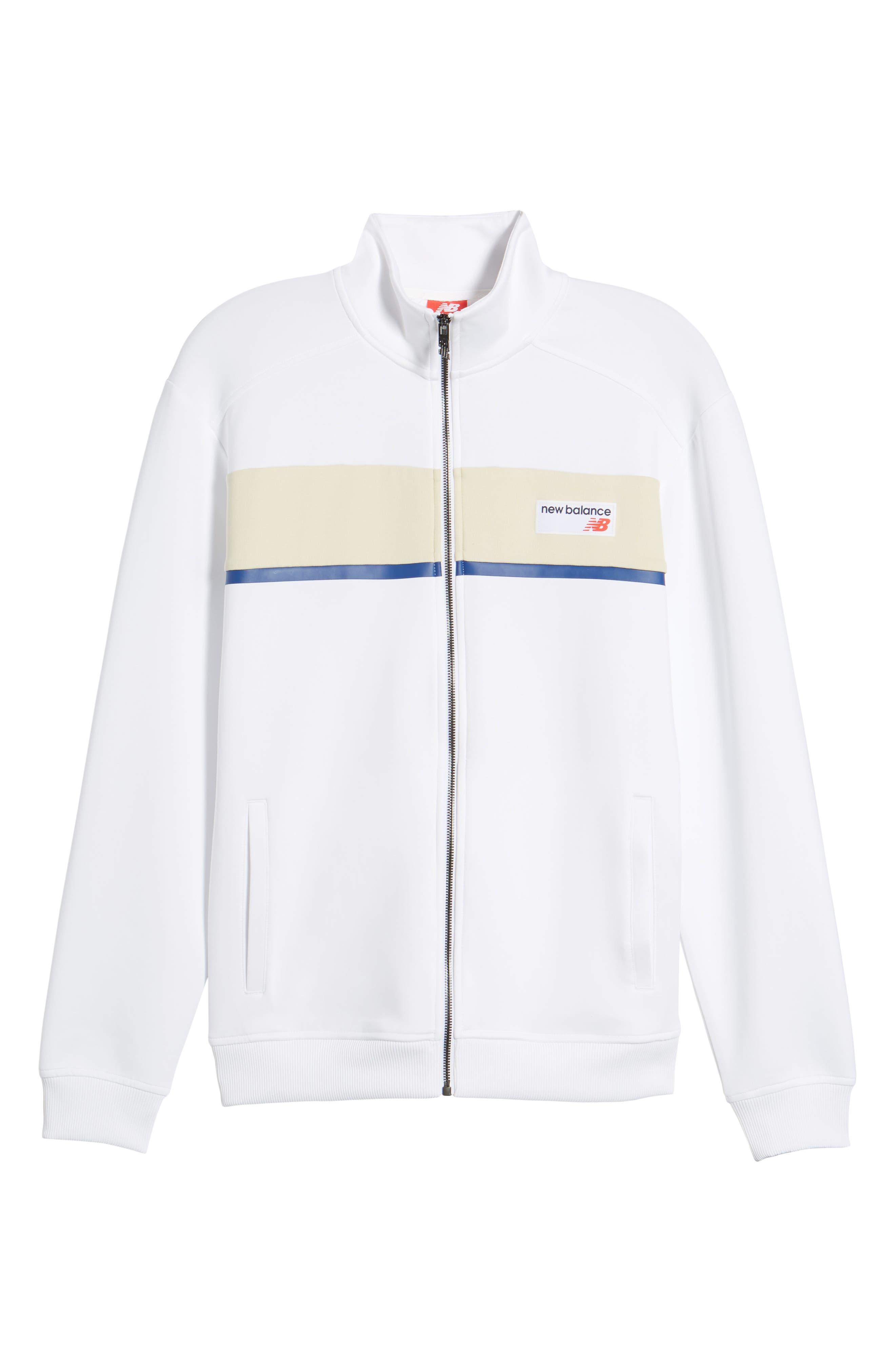 Athletics Track Jacket,                             Alternate thumbnail 6, color,                             White