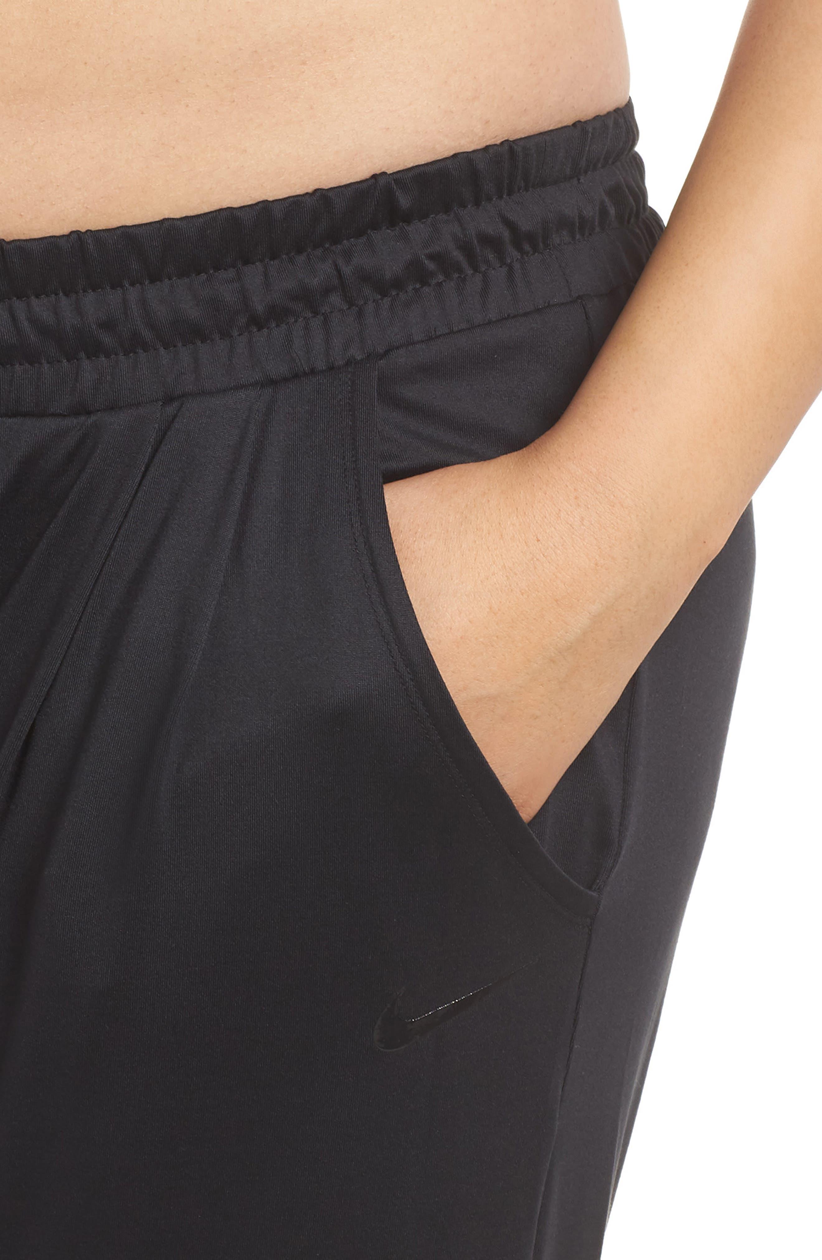 Dry Lux Flow Training Pants,                             Alternate thumbnail 4, color,                             Black/ Clear