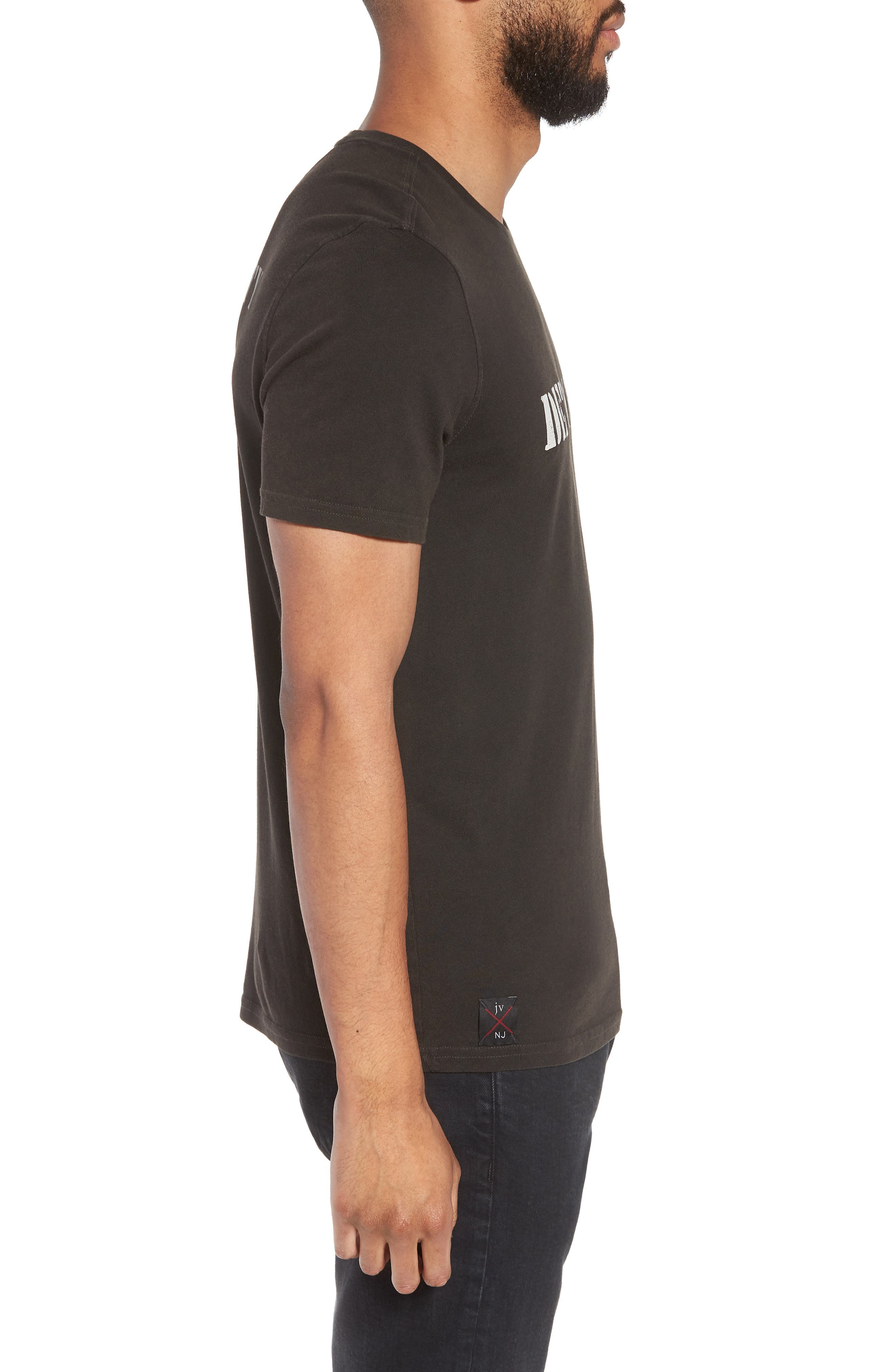John Varvatos x Nick Jonas Rock City Graphic T-Shirt,                             Alternate thumbnail 4, color,                             Black