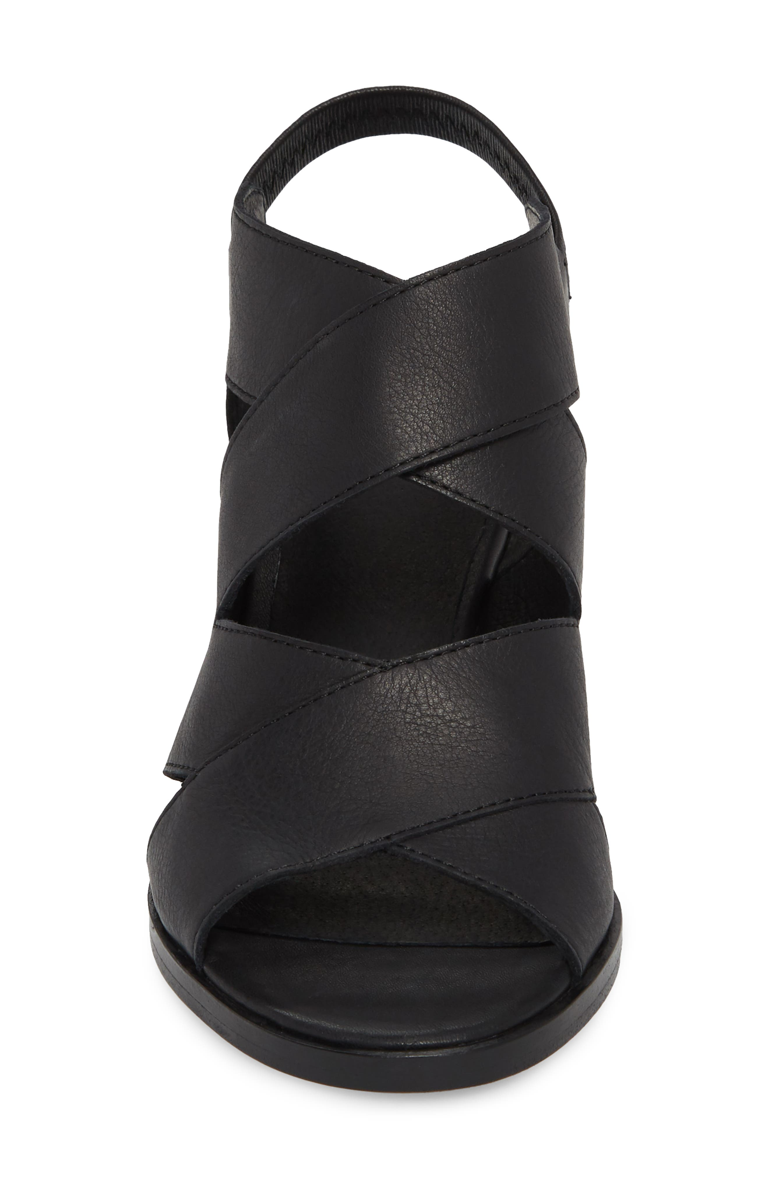 Rai Sandal,                             Alternate thumbnail 4, color,                             Black Leather