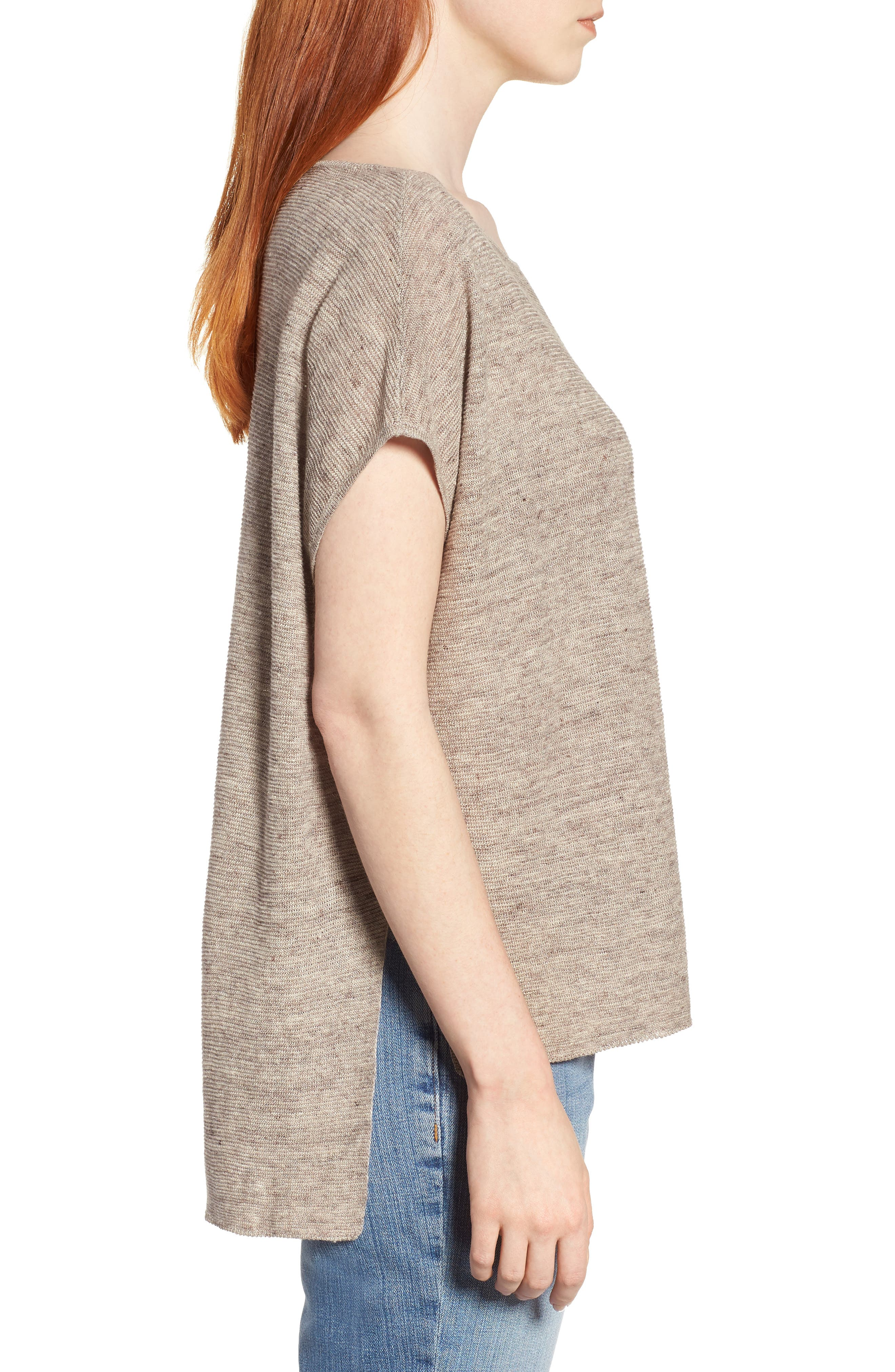 High/Low Poncho Top,                             Alternate thumbnail 3, color,                             Natural