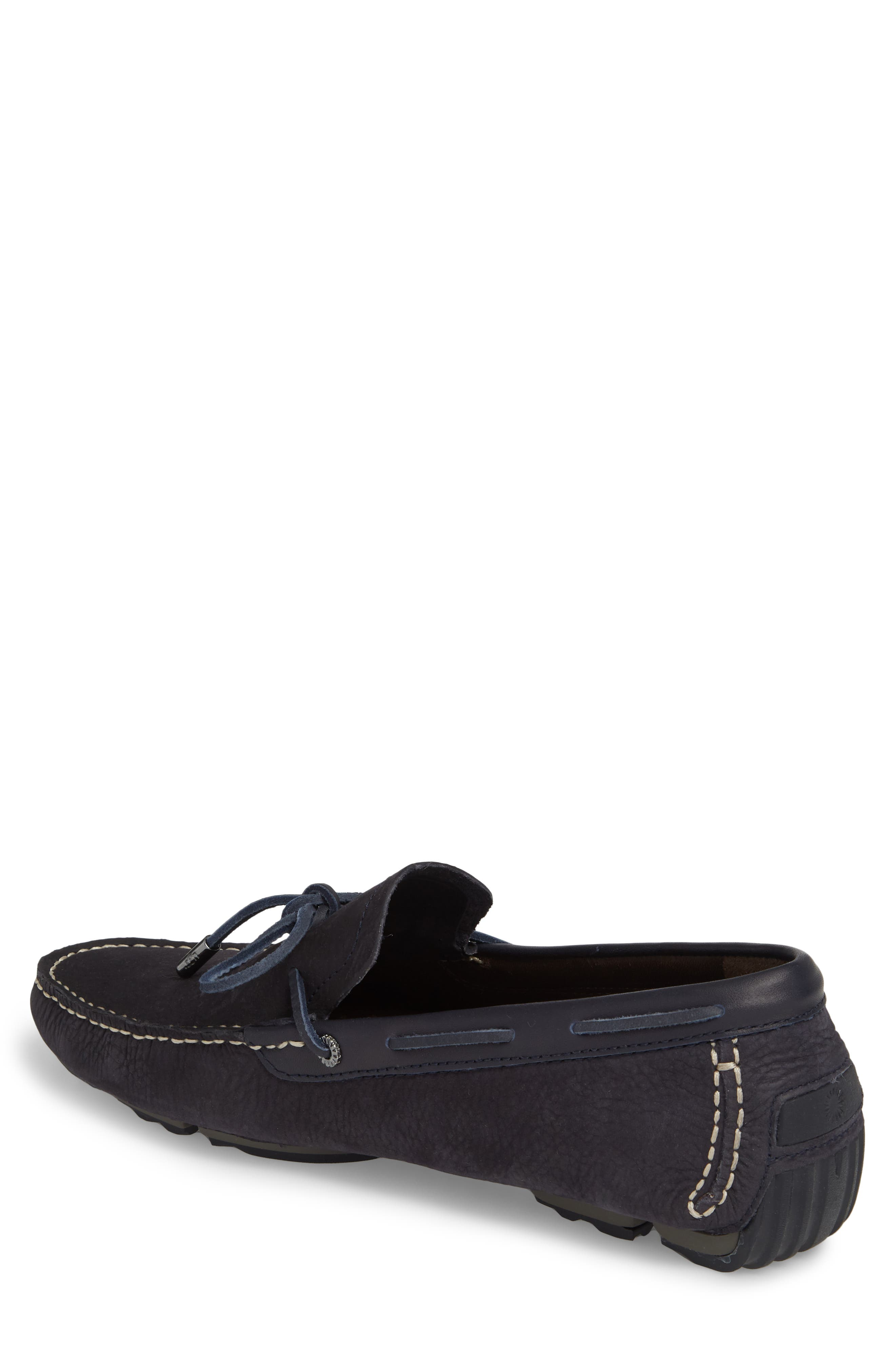 Bel Air Driving Moccasin,                             Alternate thumbnail 2, color,                             Navy Leather