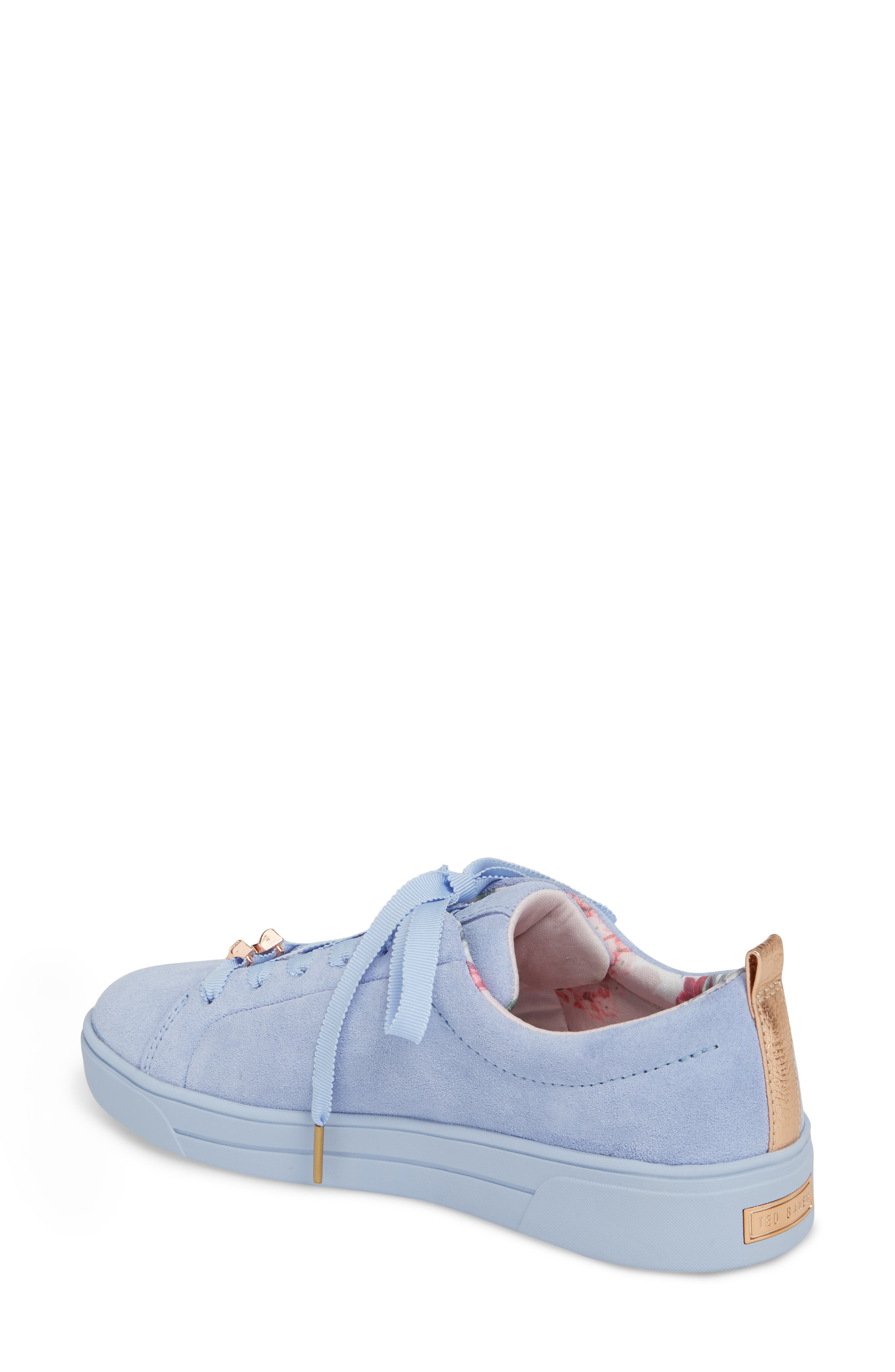 Kelleis Sneaker,                             Alternate thumbnail 2, color,                             Light Blue Suede
