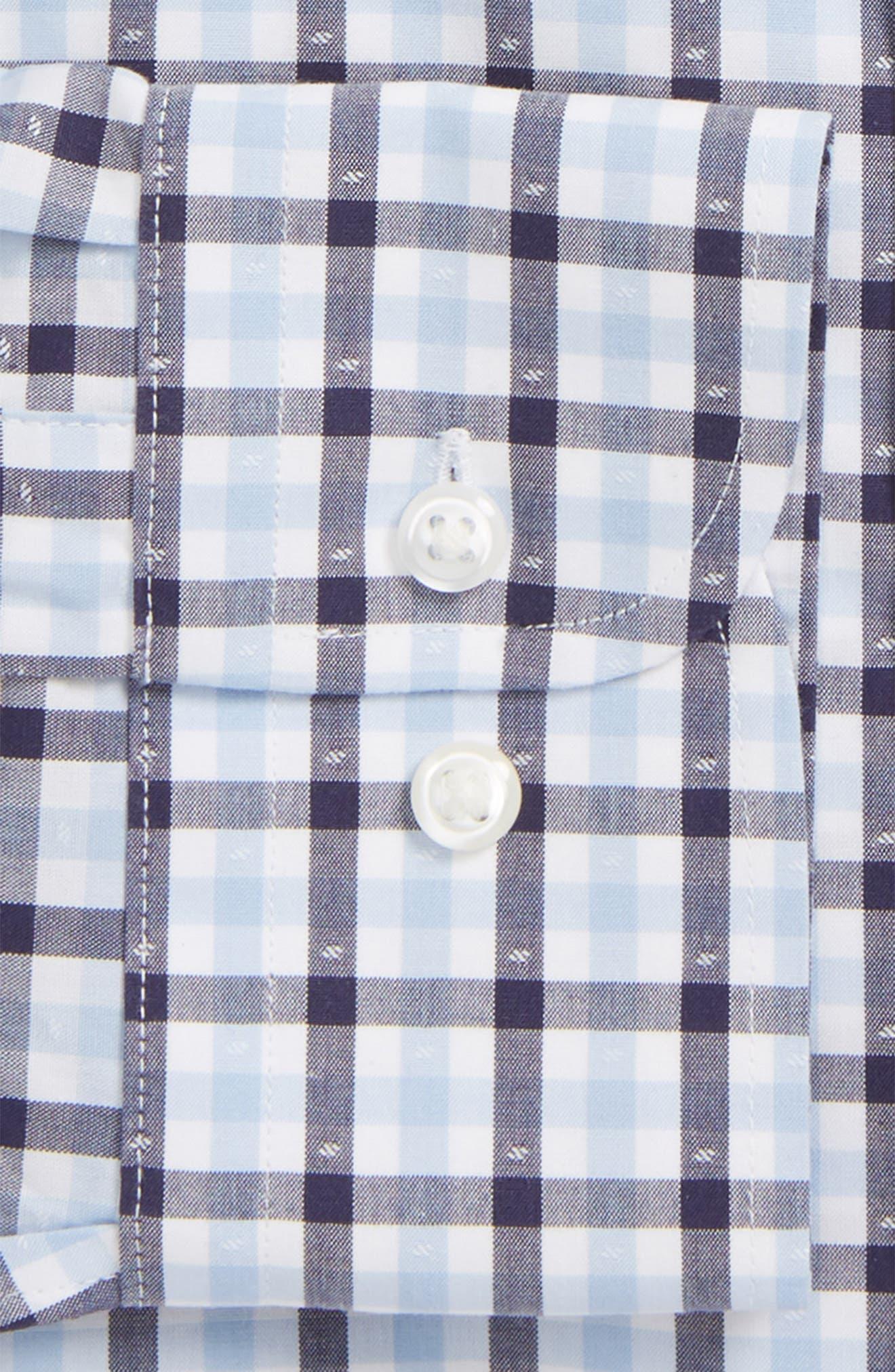 Smartcare<sup>™</sup> Trim Fit Check Dress Shirt,                             Alternate thumbnail 2, color,                             Navy Eclipse