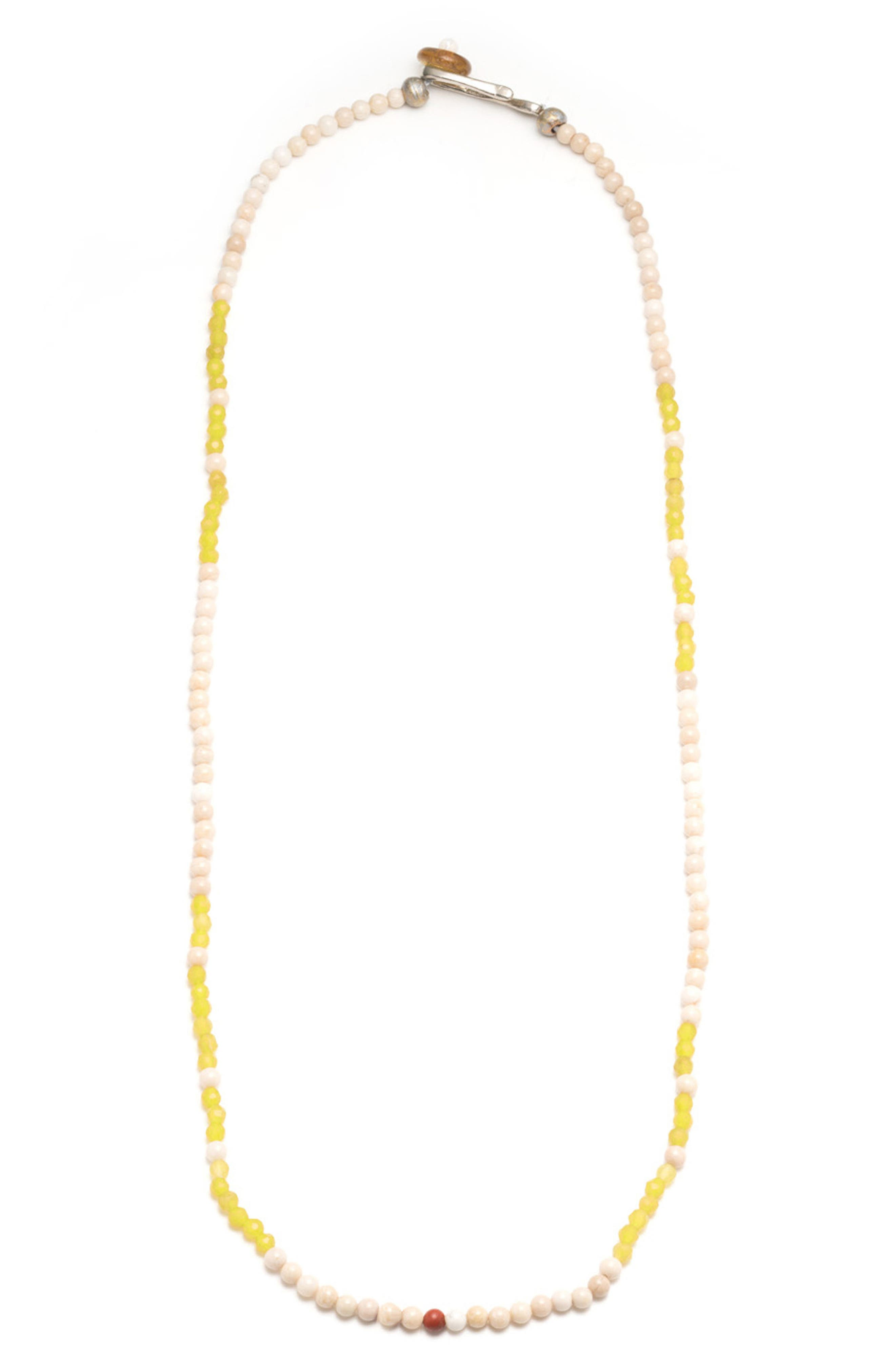 Luck Morse Necklace,                         Main,                         color, Yellow/ White