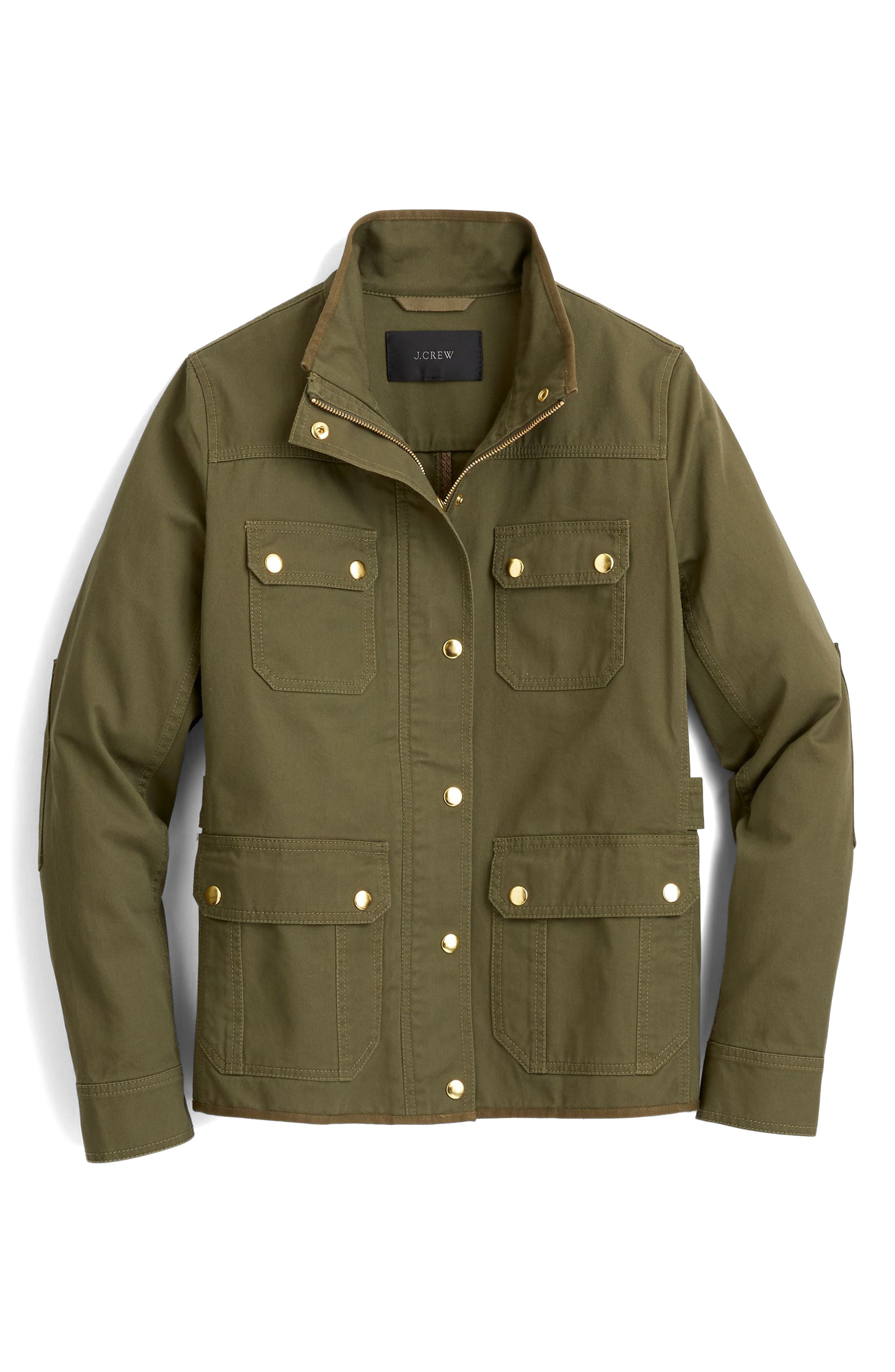 Uncoated Downtown Field Jacket,                             Alternate thumbnail 4, color,                             Tuscan Olive